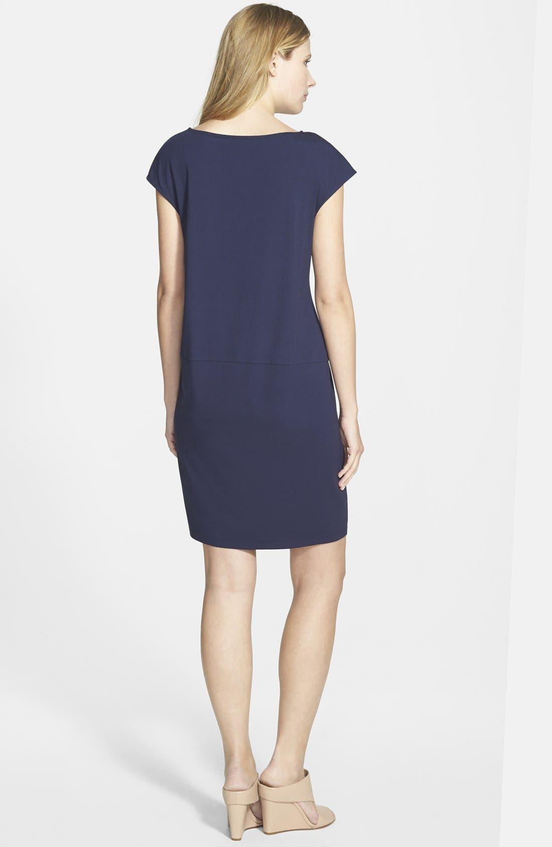 Alternate Image 2  - Eileen Fisher Wide Neck Jersey Shift Dress (Regular & Petite) (Online Only)