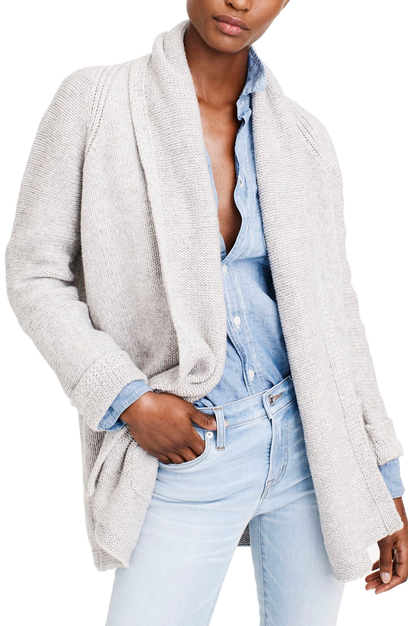 J.Crew Cedar Long Open Cardigan