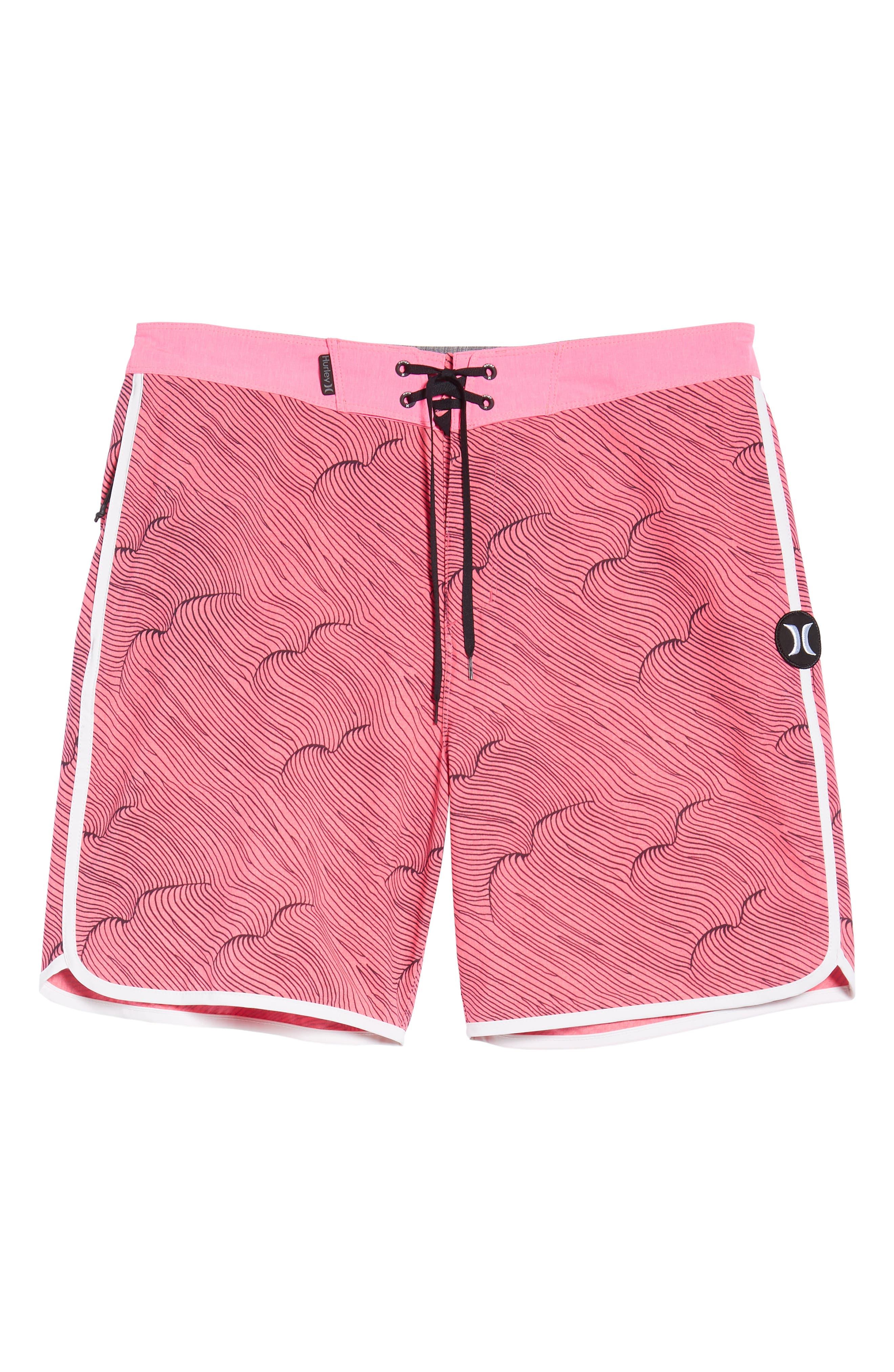 Phantom Thalia Street Board Shorts,                             Alternate thumbnail 6, color,                             Hyper Pink/Black
