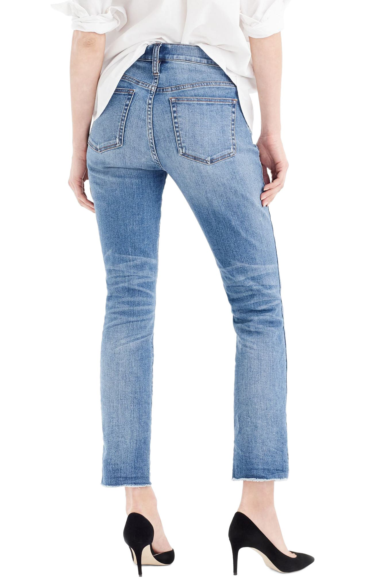 J.Crew Vintage Straight Jeans,                             Alternate thumbnail 2, color,                             Reed Wash