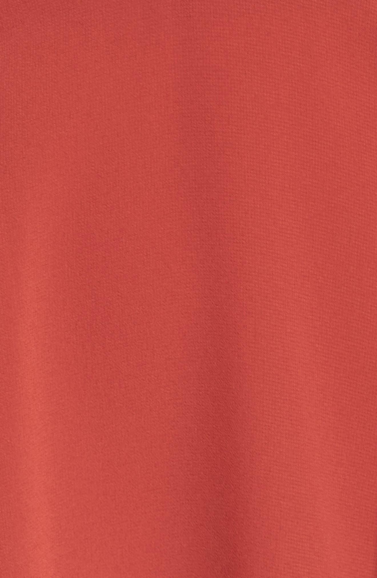 El Cid Tie Front Minidress,                             Alternate thumbnail 5, color,                             Rust