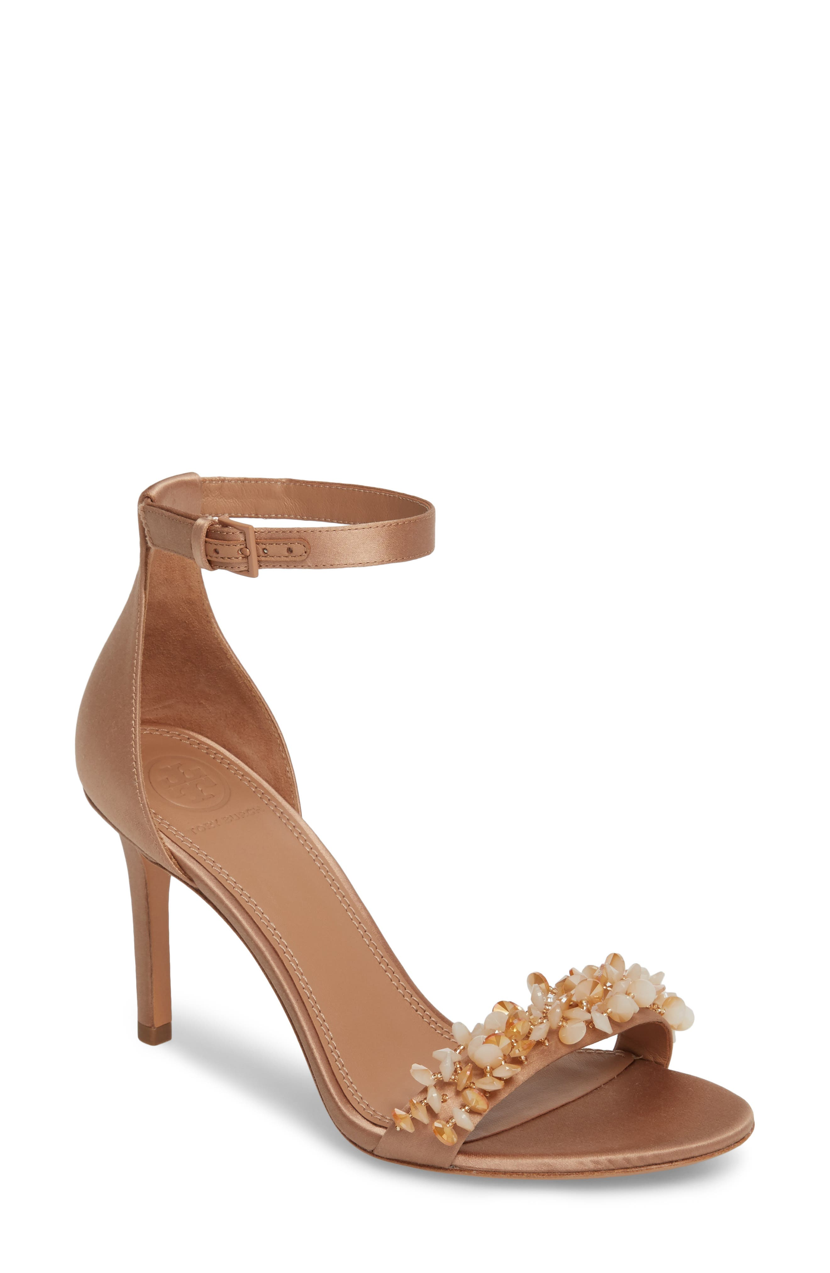 Tory Burch Logan Crystal Embellished Sandal (Women)