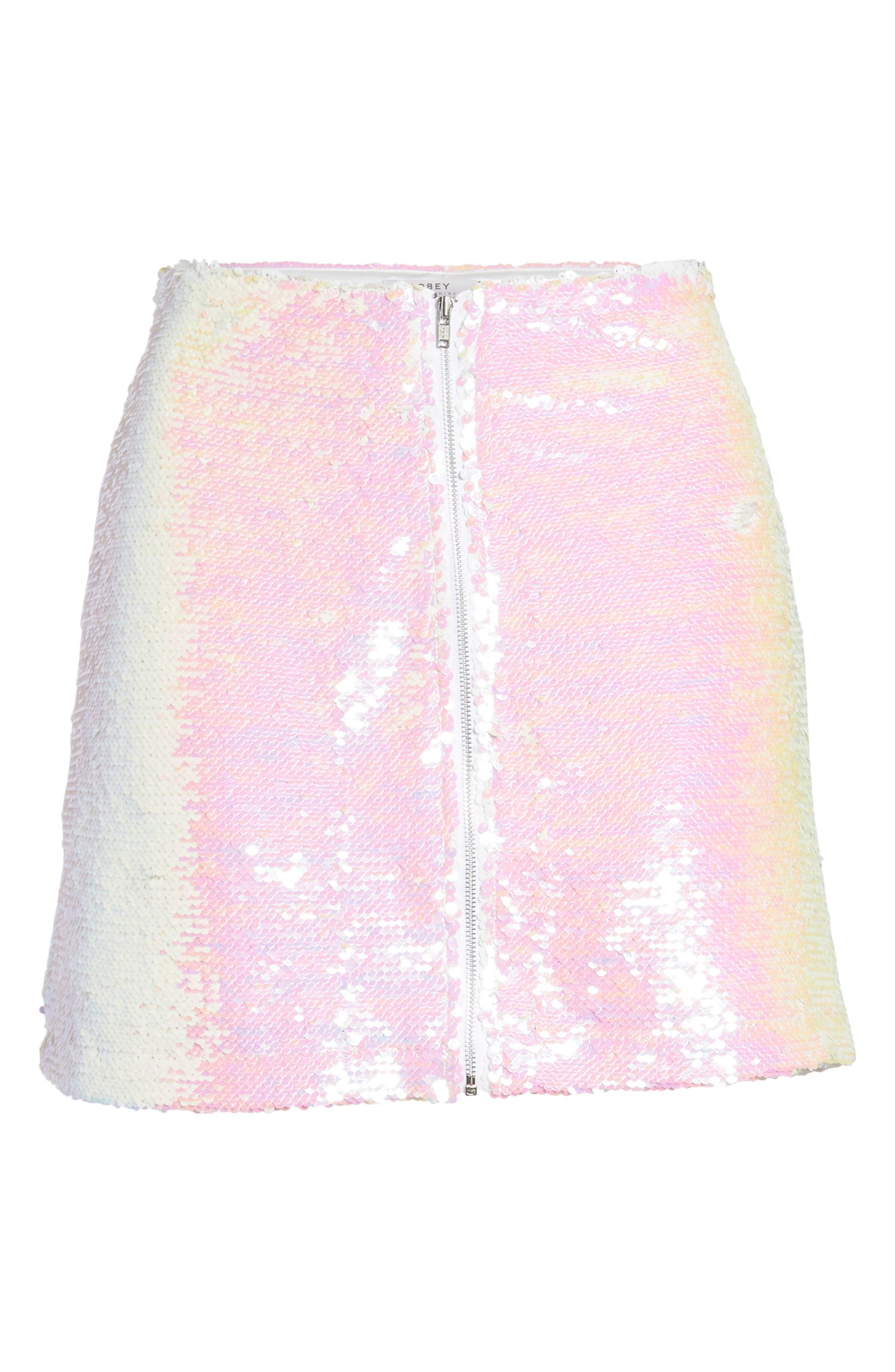 Kool Thing Sequin Skirt,                             Alternate thumbnail 6, color,                             Pink Multi