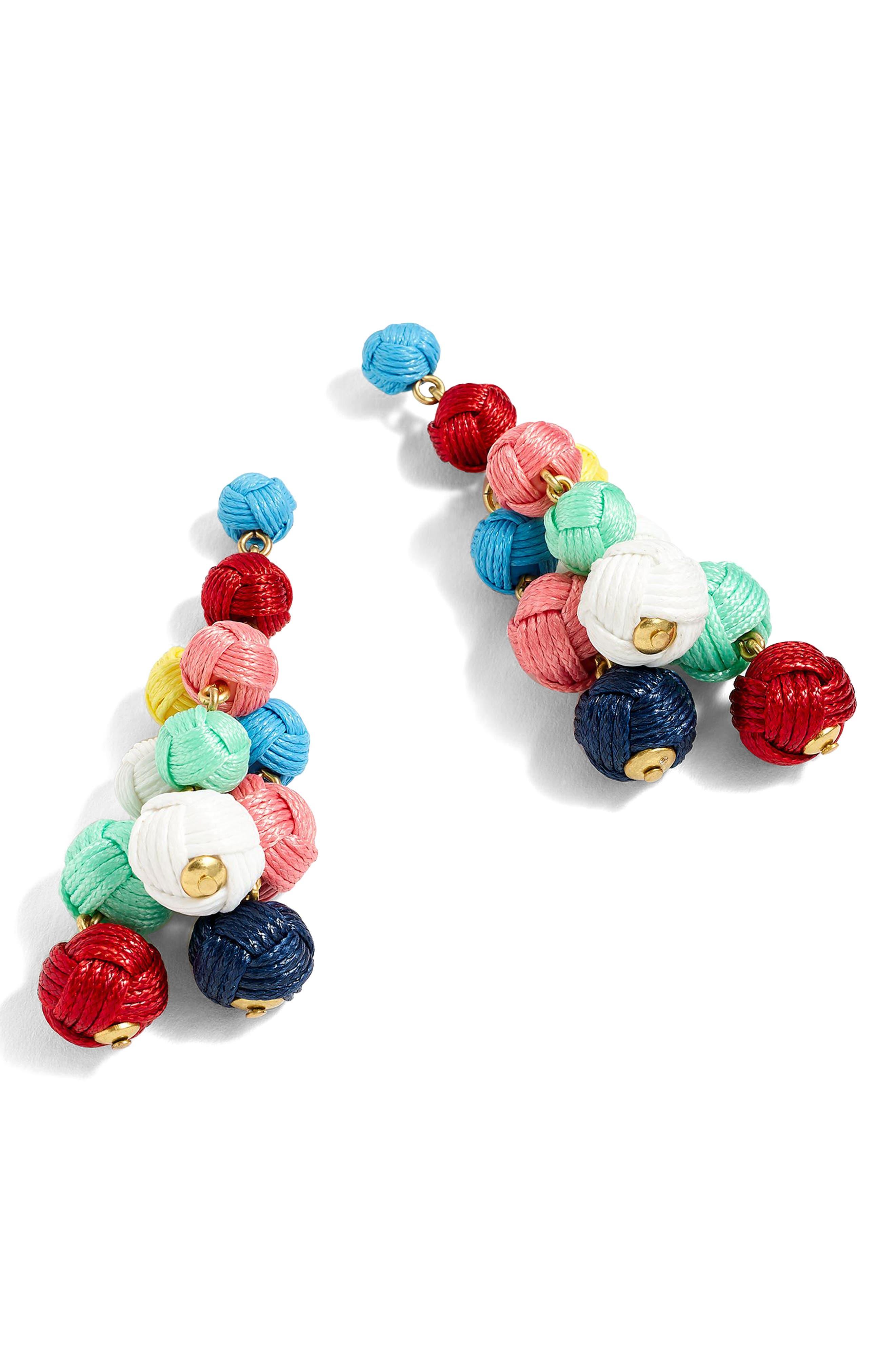 J.Crew Love Knot Chandelier Earrings