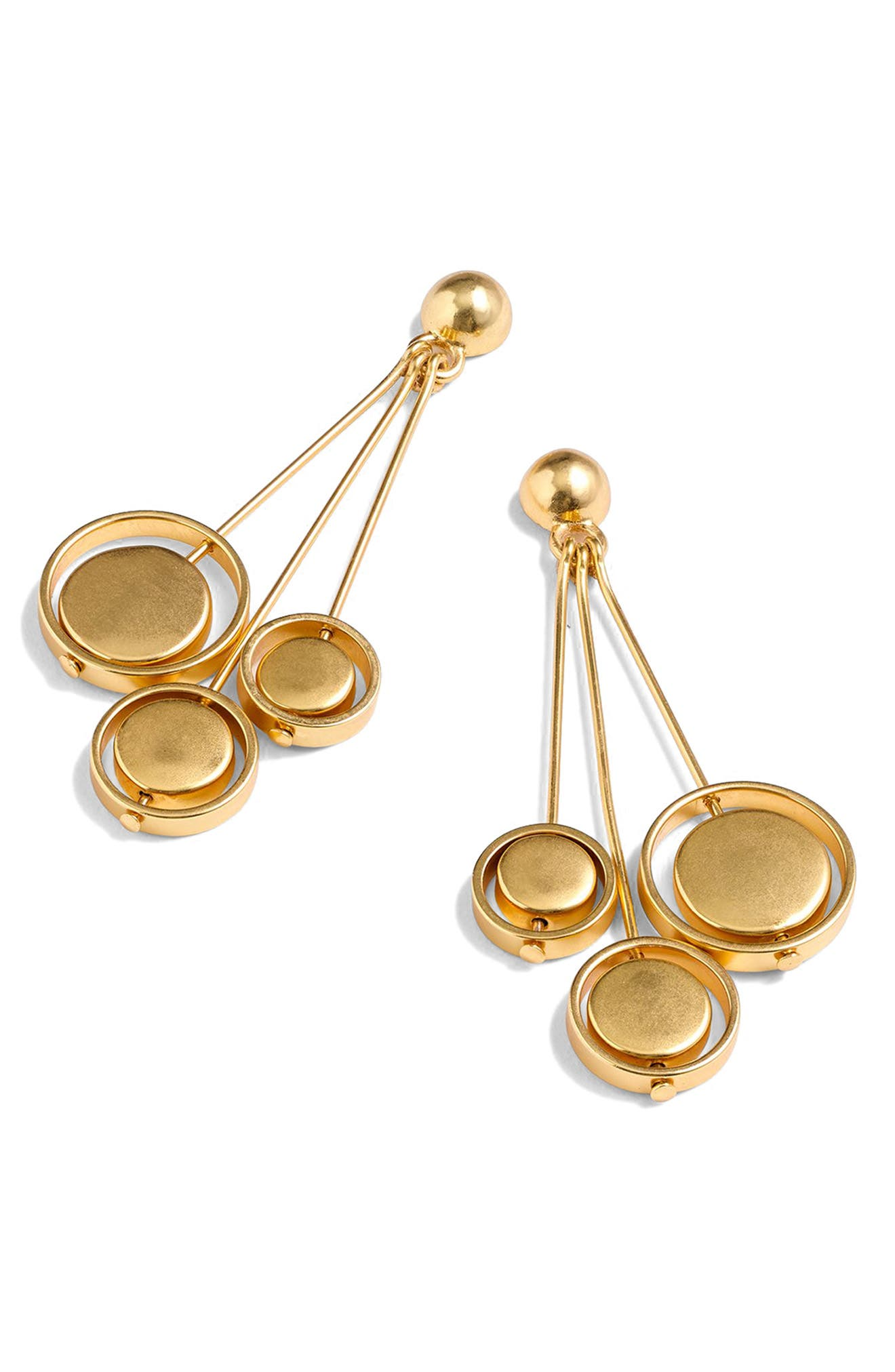 Orb Drop Earrings,                         Main,                         color, Gold