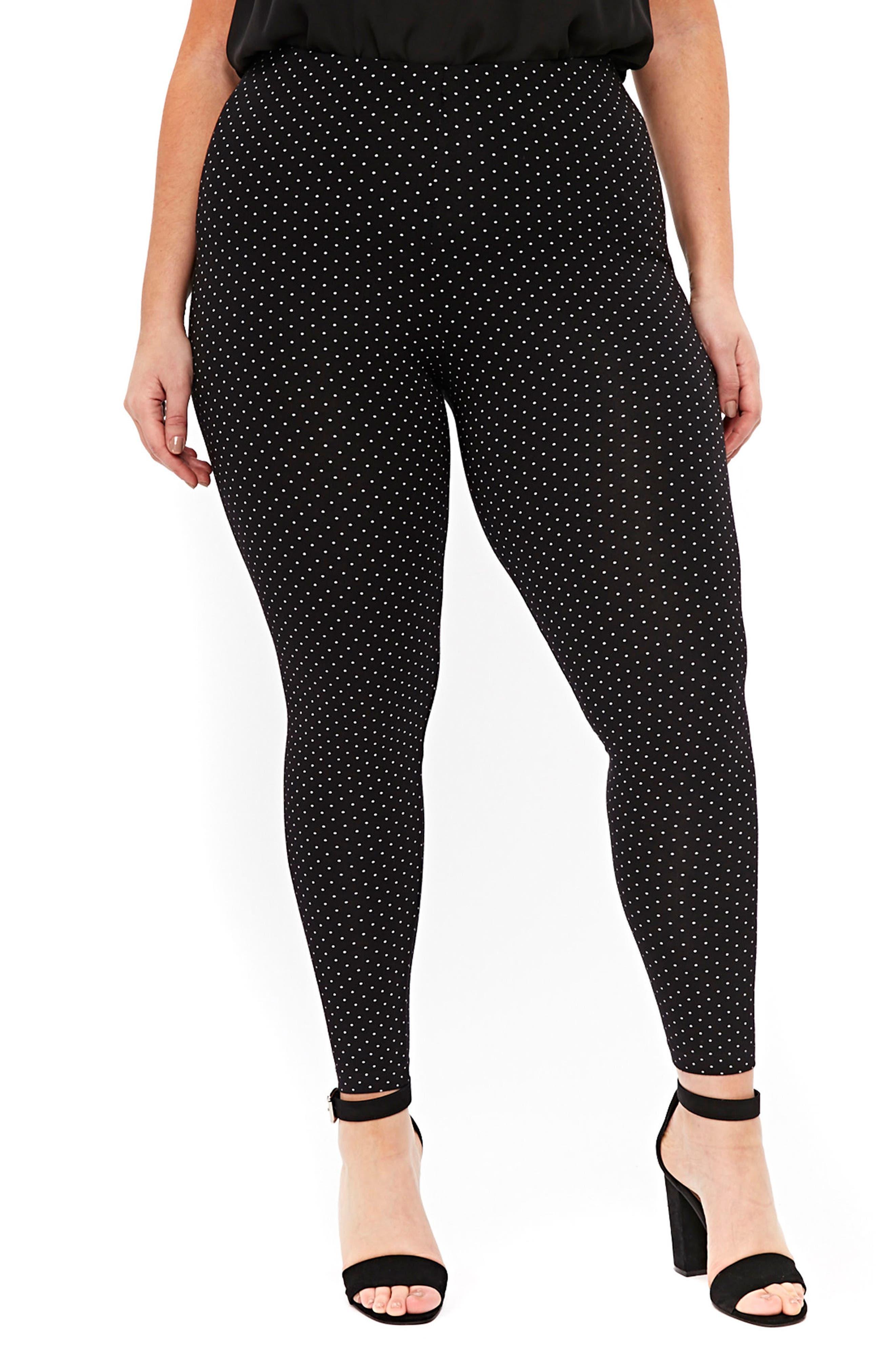 Evans Polka Dot Leggings (Plus Size)