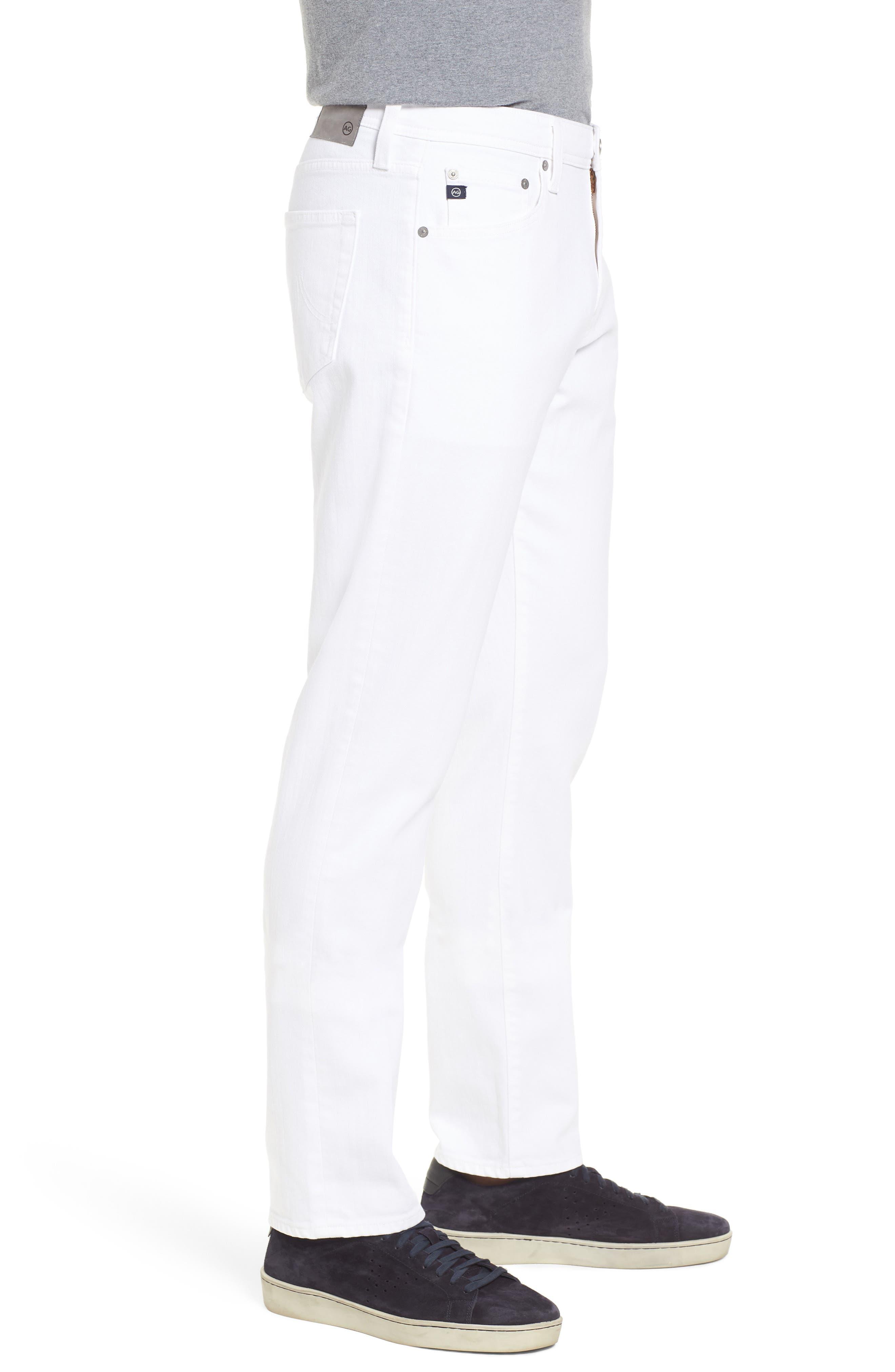 Everett Slim Straight Leg Jeans,                             Alternate thumbnail 3, color,                             White