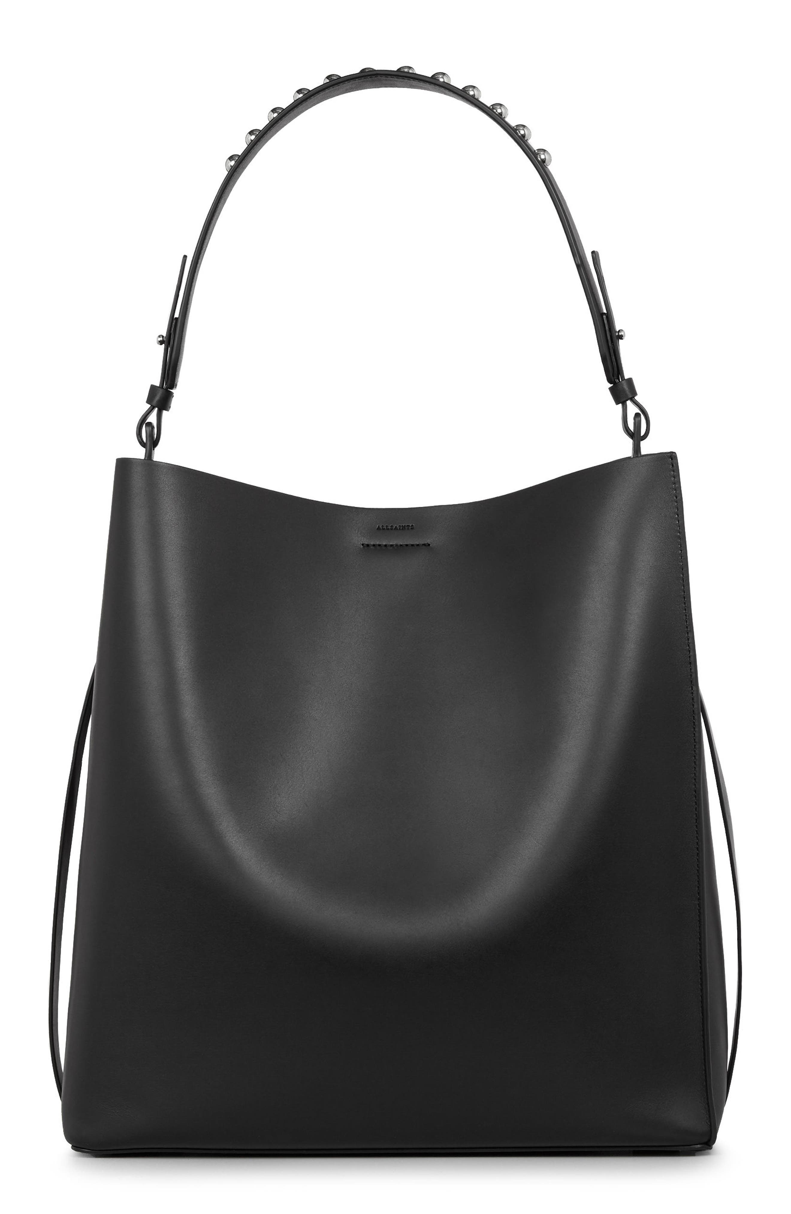 Alternate Image 1 Selected - ALLSAINTS Suzi North/South Leather Tote
