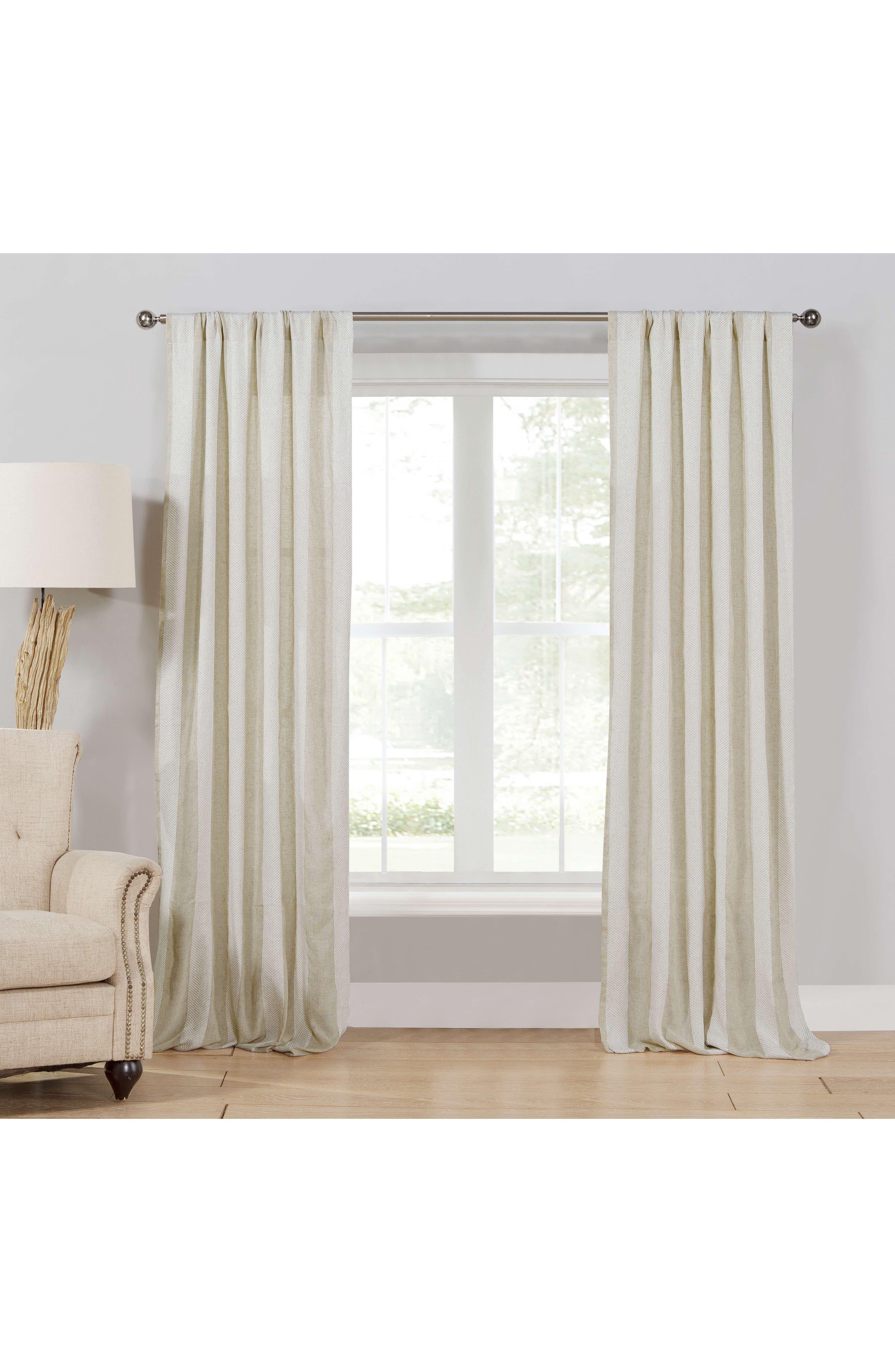Newbury Set of 2 Window Panels,                             Main thumbnail 1, color,                             Linen