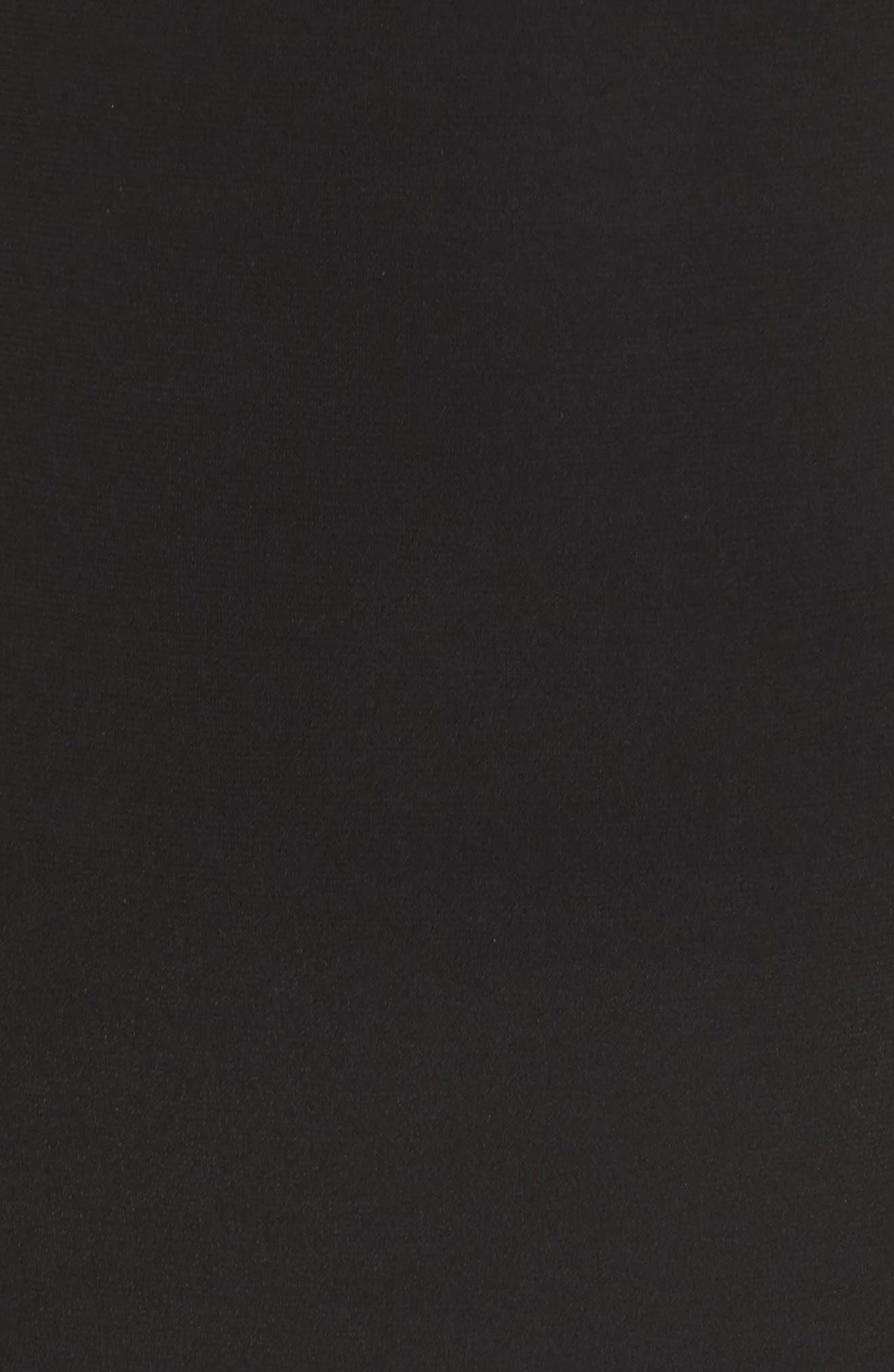 Caviar Beading Keyhole Dress,                             Alternate thumbnail 5, color,                             Black/ Nude/ Silver