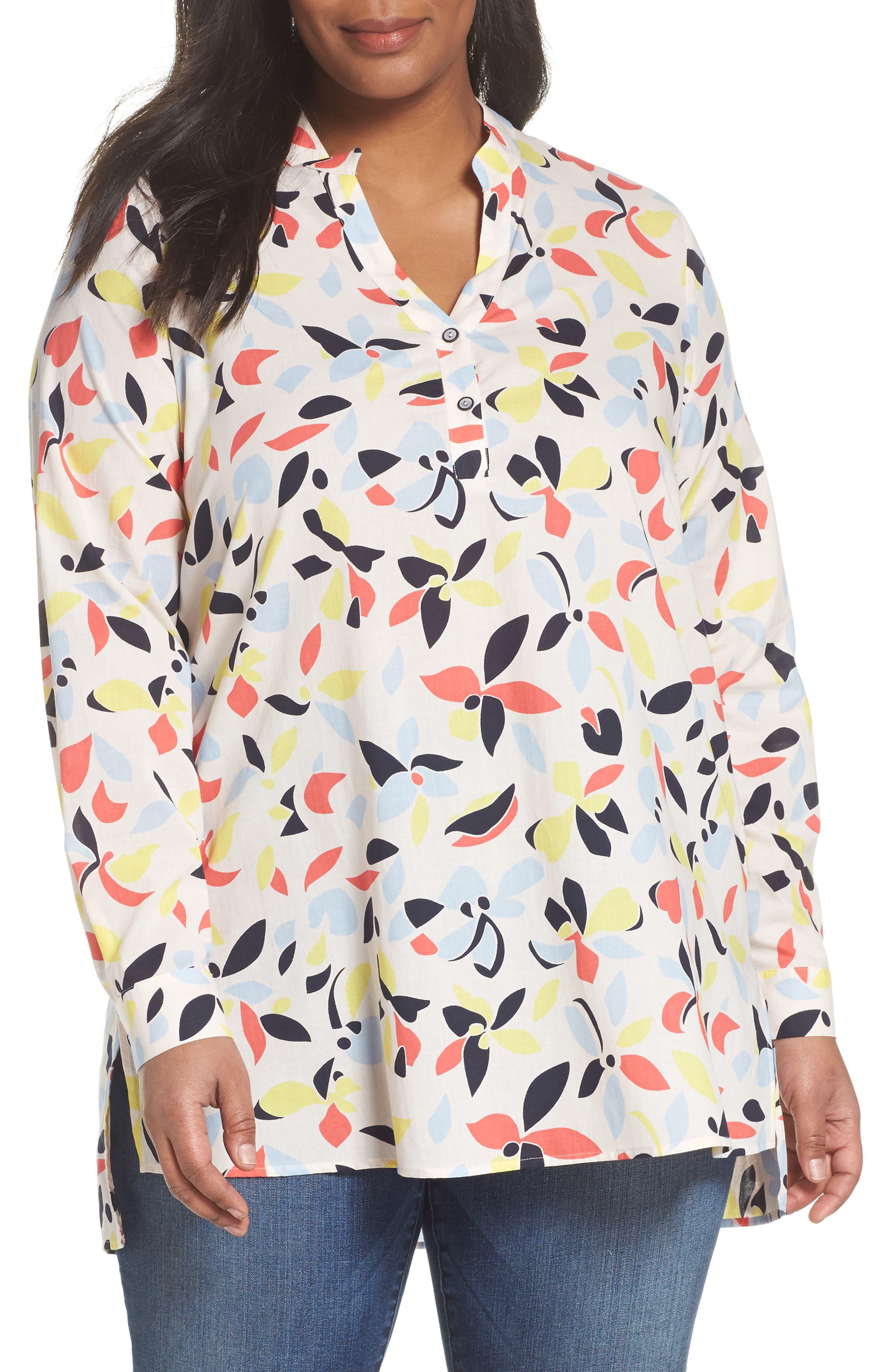 Persona by Marina Rinaldi Floral Tunic Blouse (Plus Size)