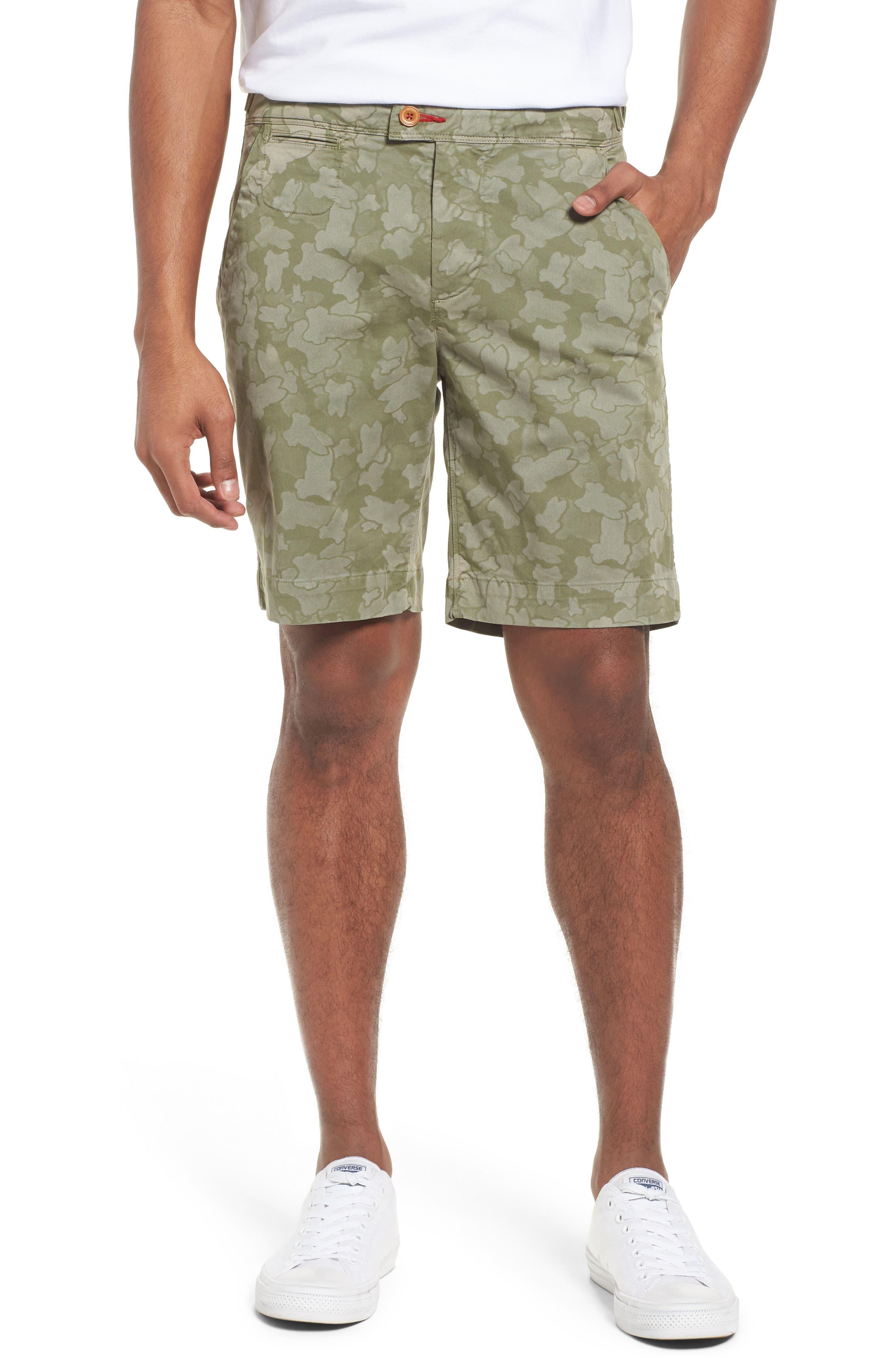 Psycho Bunny Camo Shorts,                         Main,                         color, Kalamata