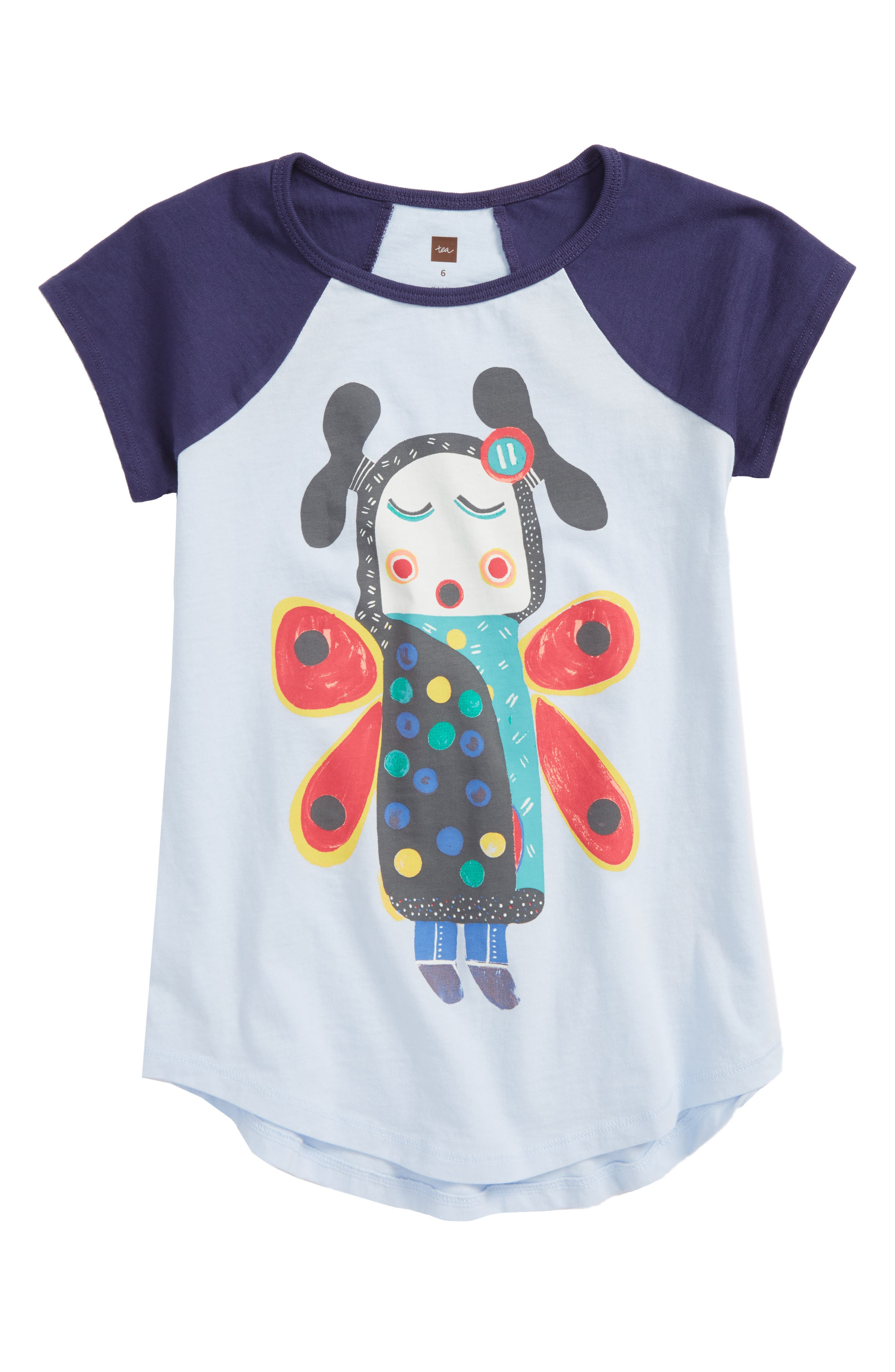 Main Image - Tea Collection Singing Butterfly Girl Tee (Toddler Girls, Little Girls & Big Girls)