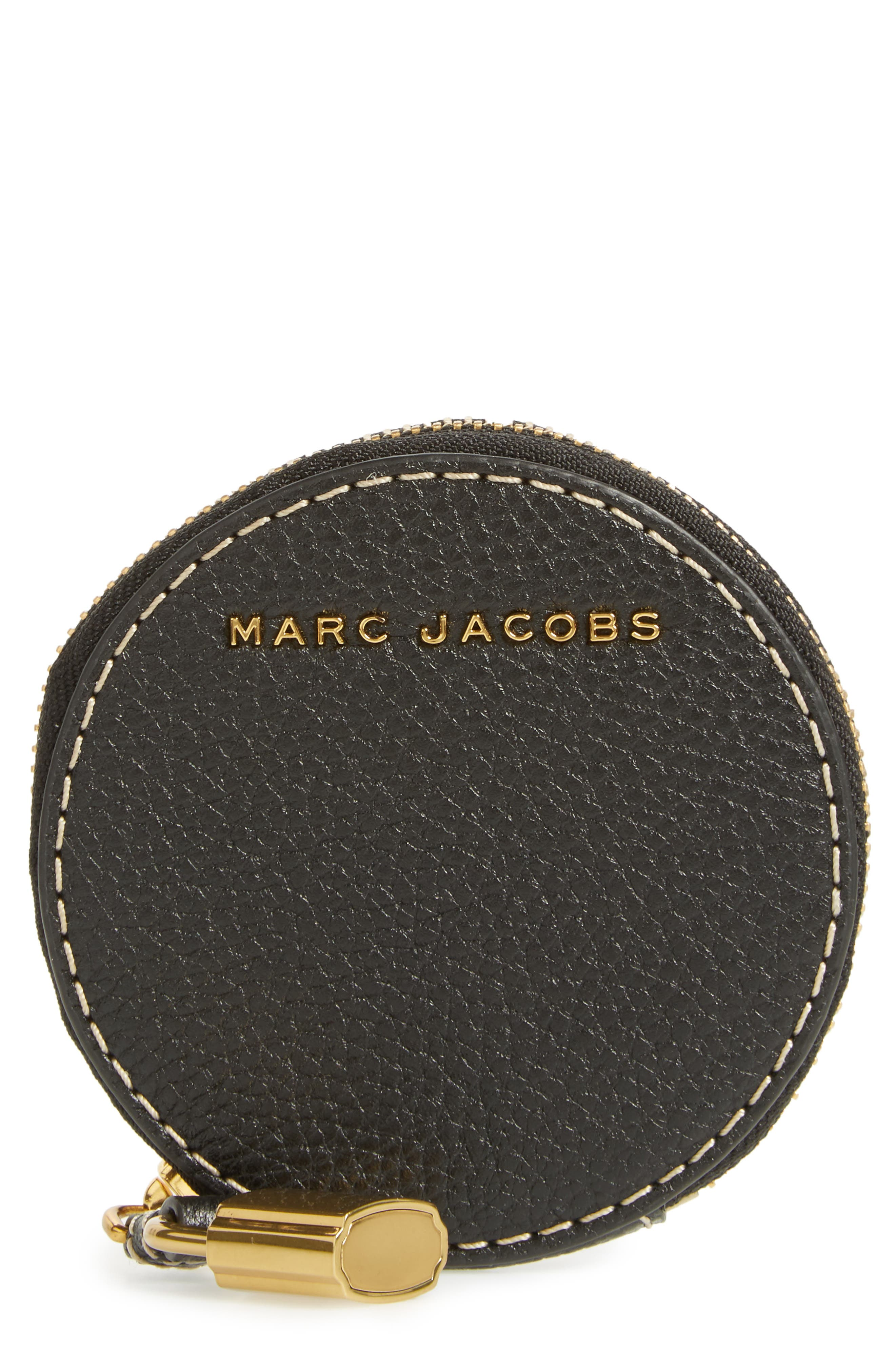 Main Image - MARC JACOBS The Grind Leather Coin Pouch