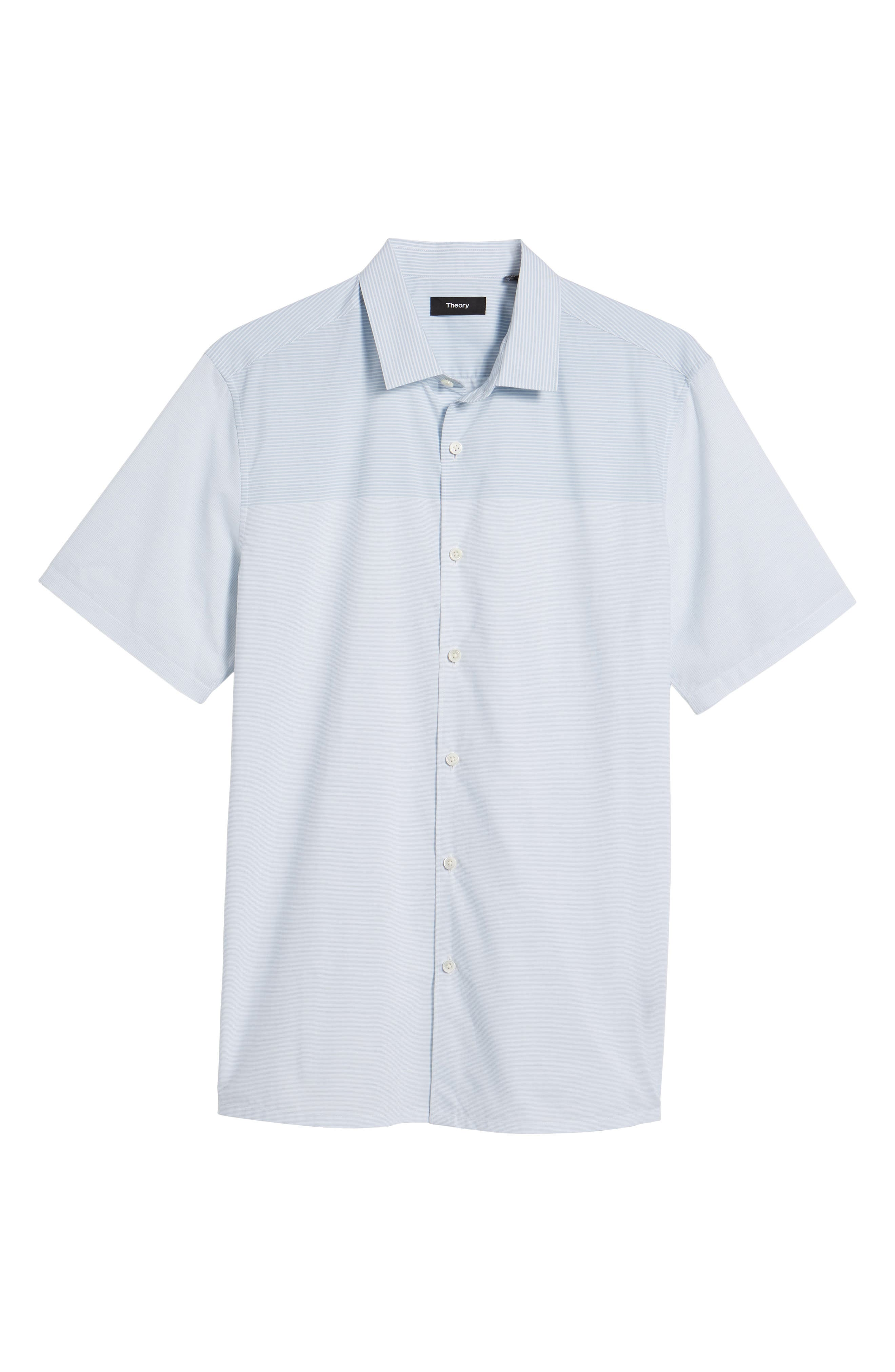 Murrary Regular Fit Stripe Short Sleeve Sport Shirt,                             Alternate thumbnail 6, color,                             Breeze Multi