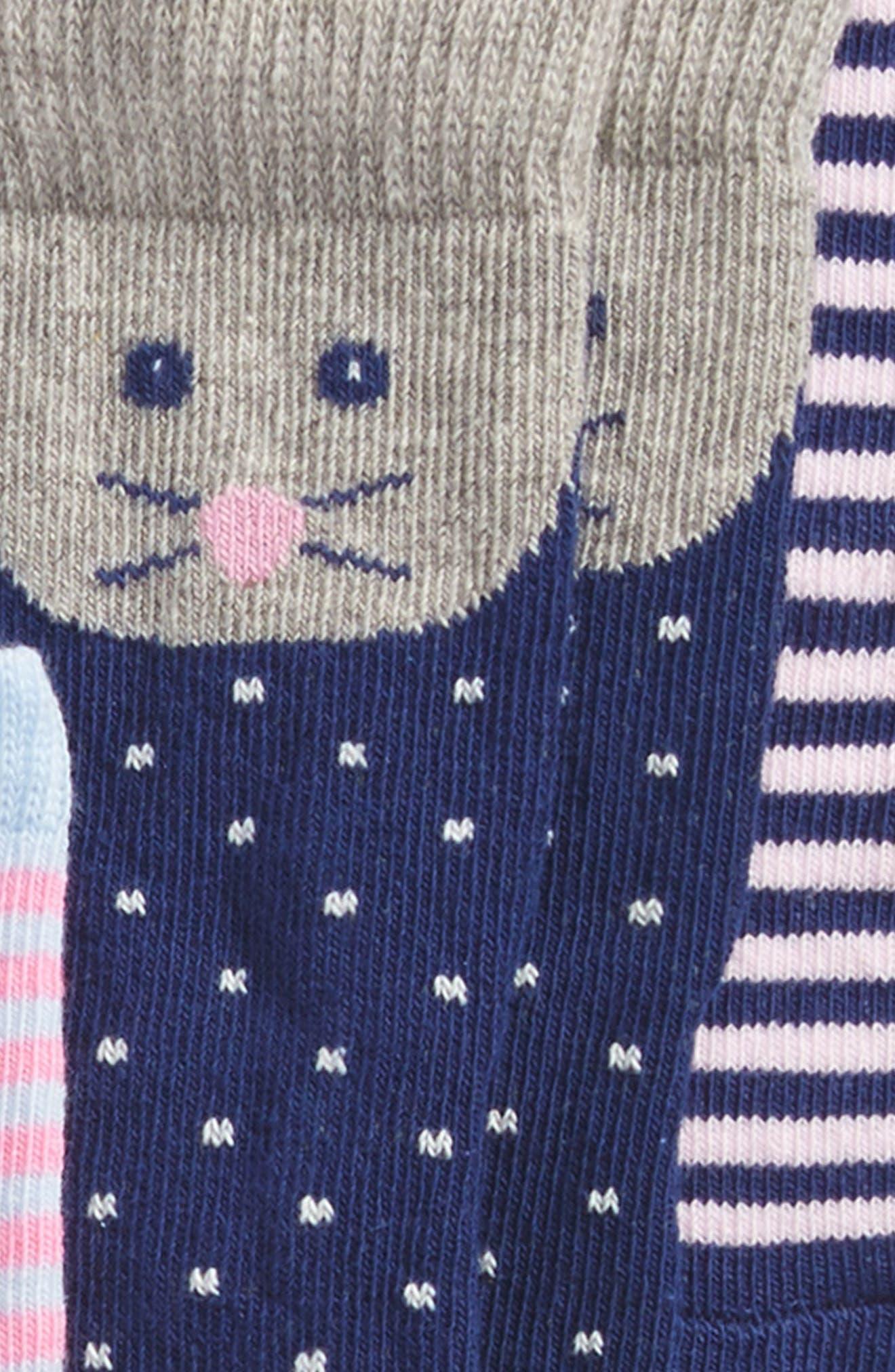 6-Pack Animal Socks,                             Alternate thumbnail 2, color,                             Girl Animal Pack