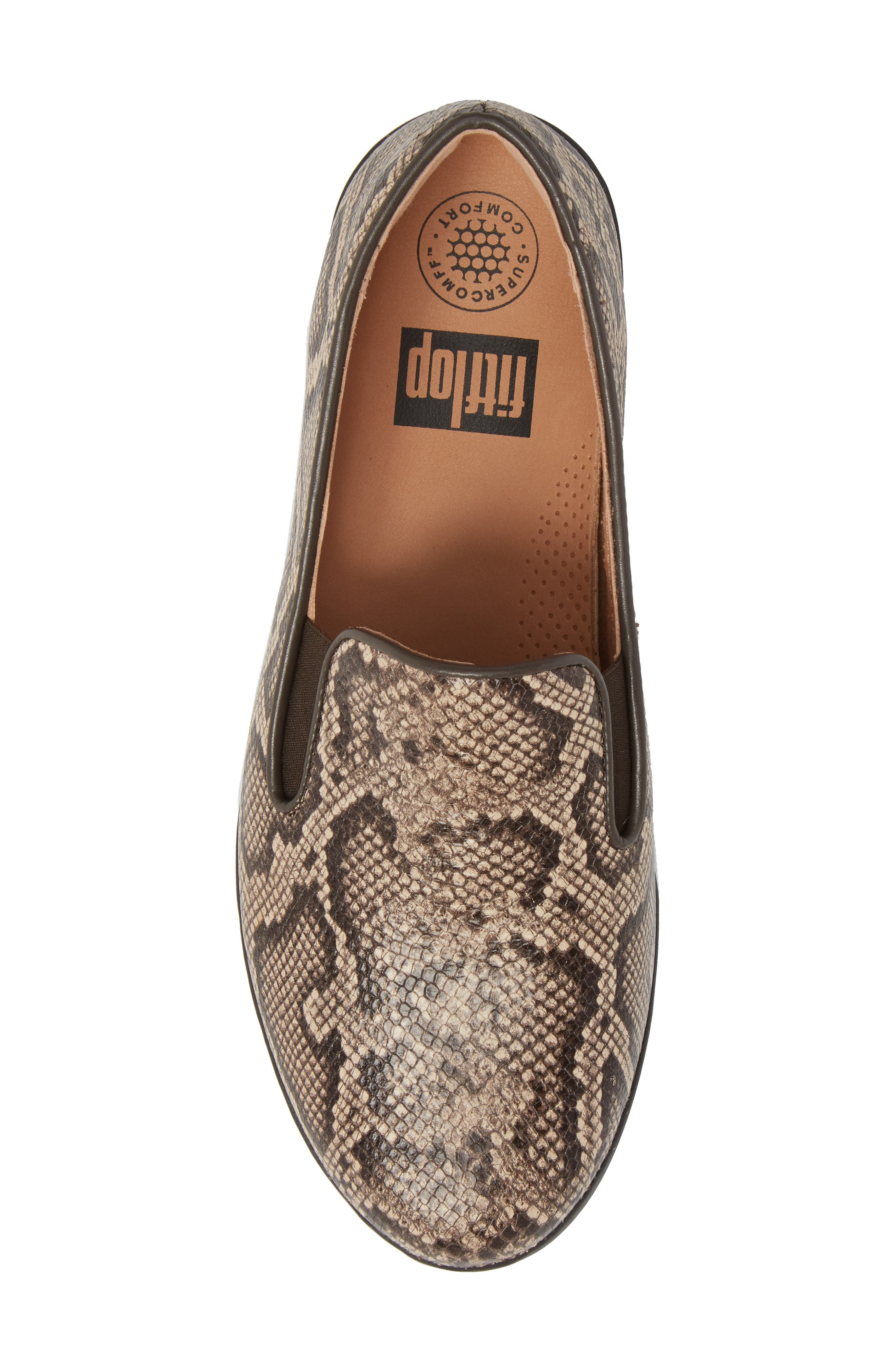 SuperSkate<sup>™</sup> Loafer,                             Alternate thumbnail 5, color,                             Taupe Snake Print Leather