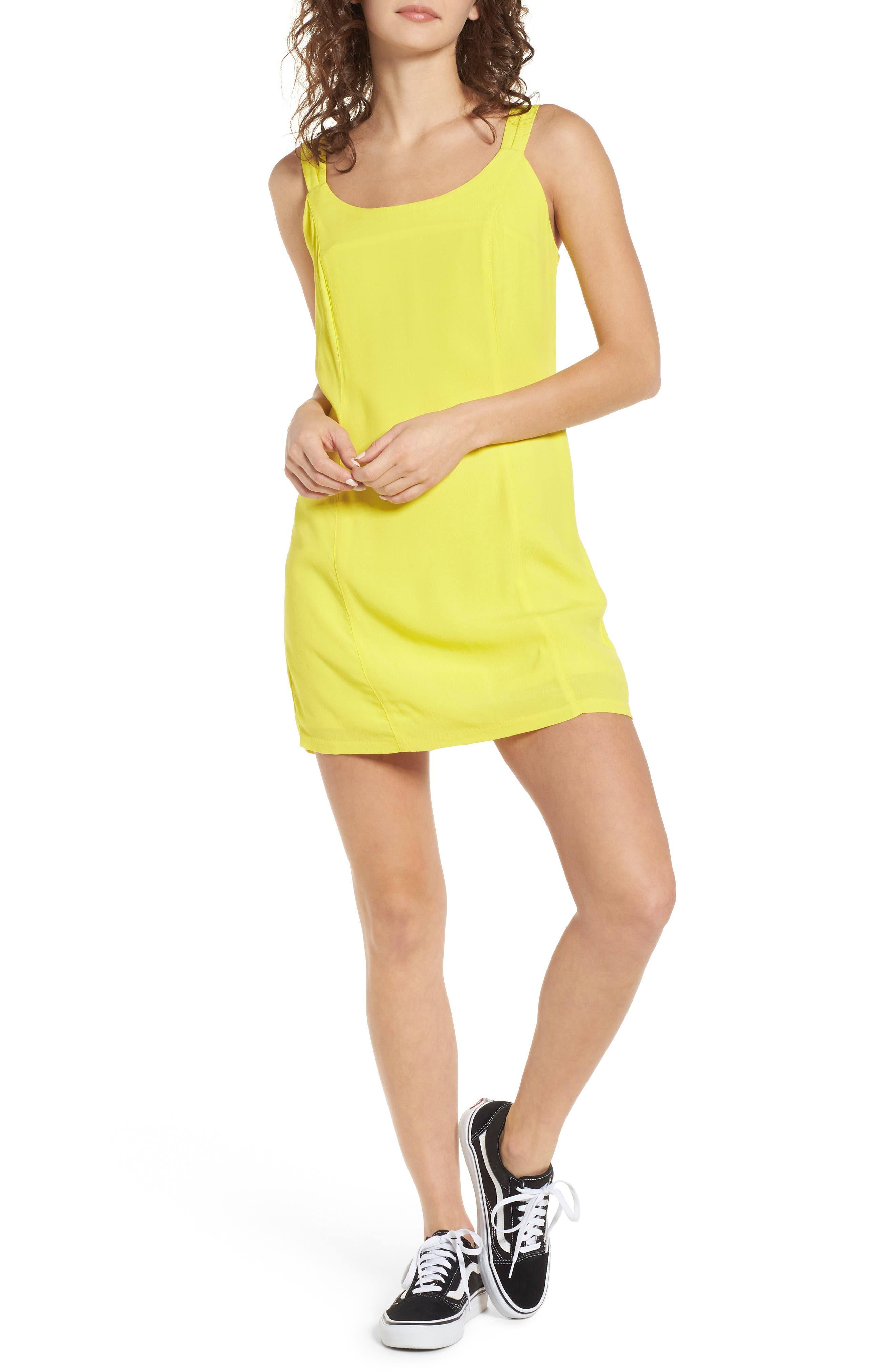 Vera Double Strap Dress,                             Main thumbnail 1, color,                             Lemon