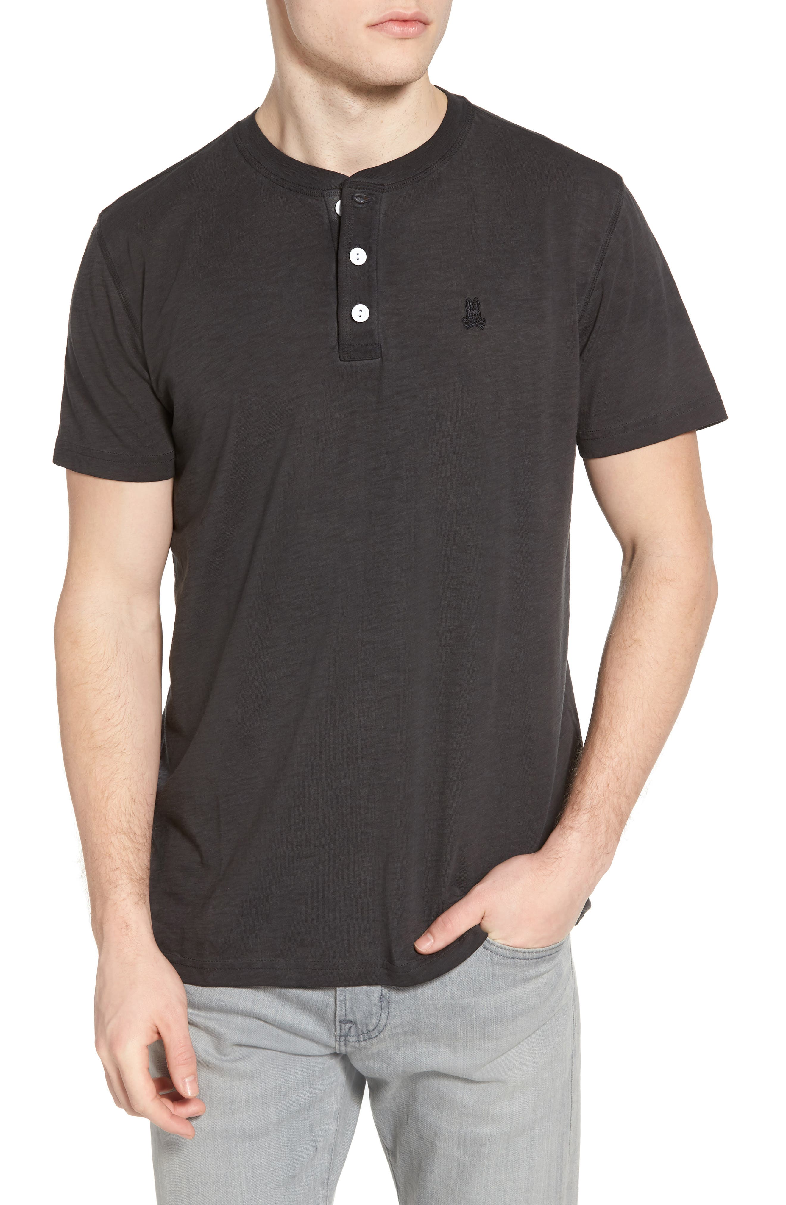 Sunwash Henley T-Shirt,                             Main thumbnail 1, color,                             Black
