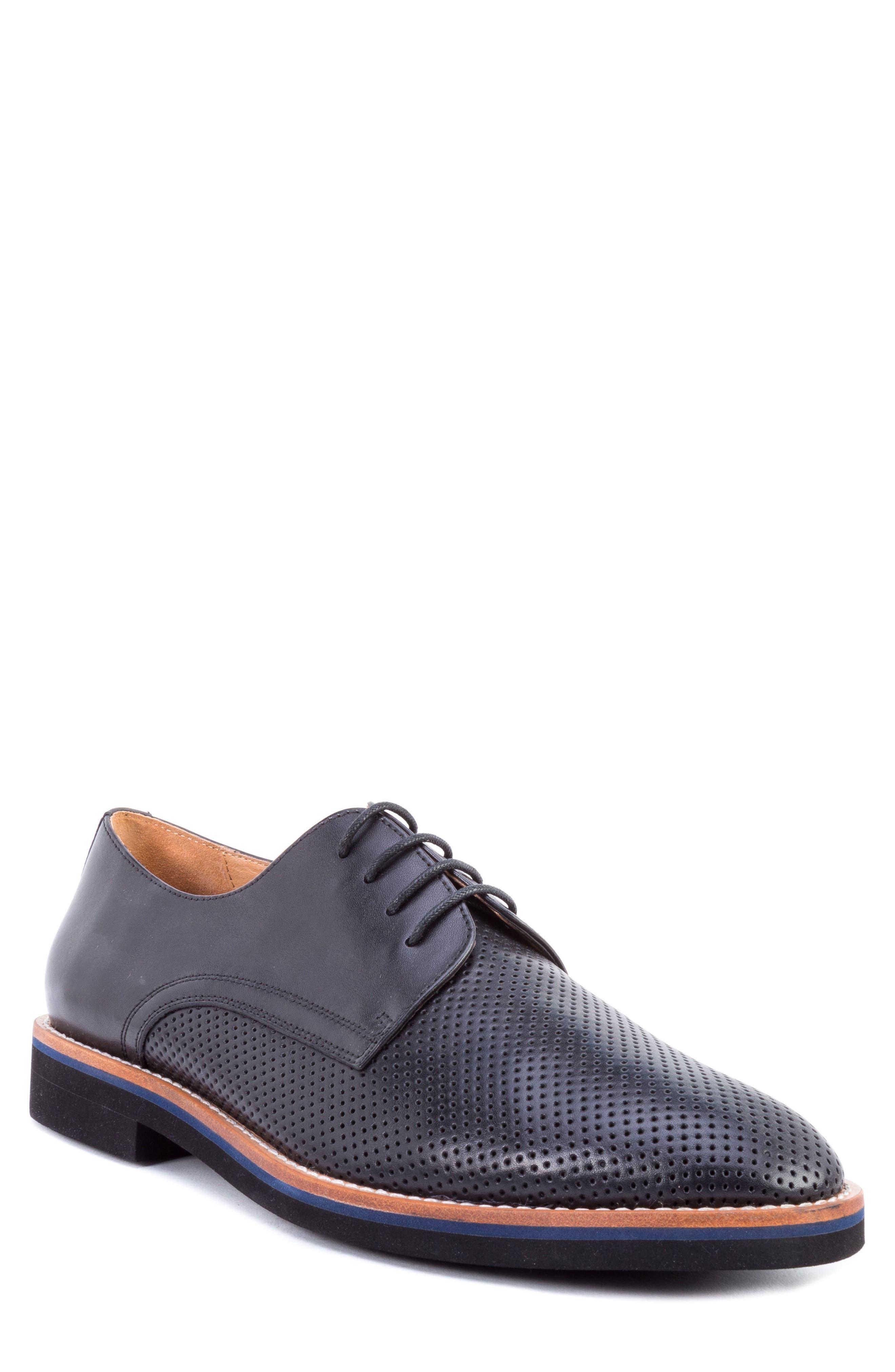 Alternate Image 1 Selected - Zanzara Hartung Perforated Plain Toe Derby (Men)