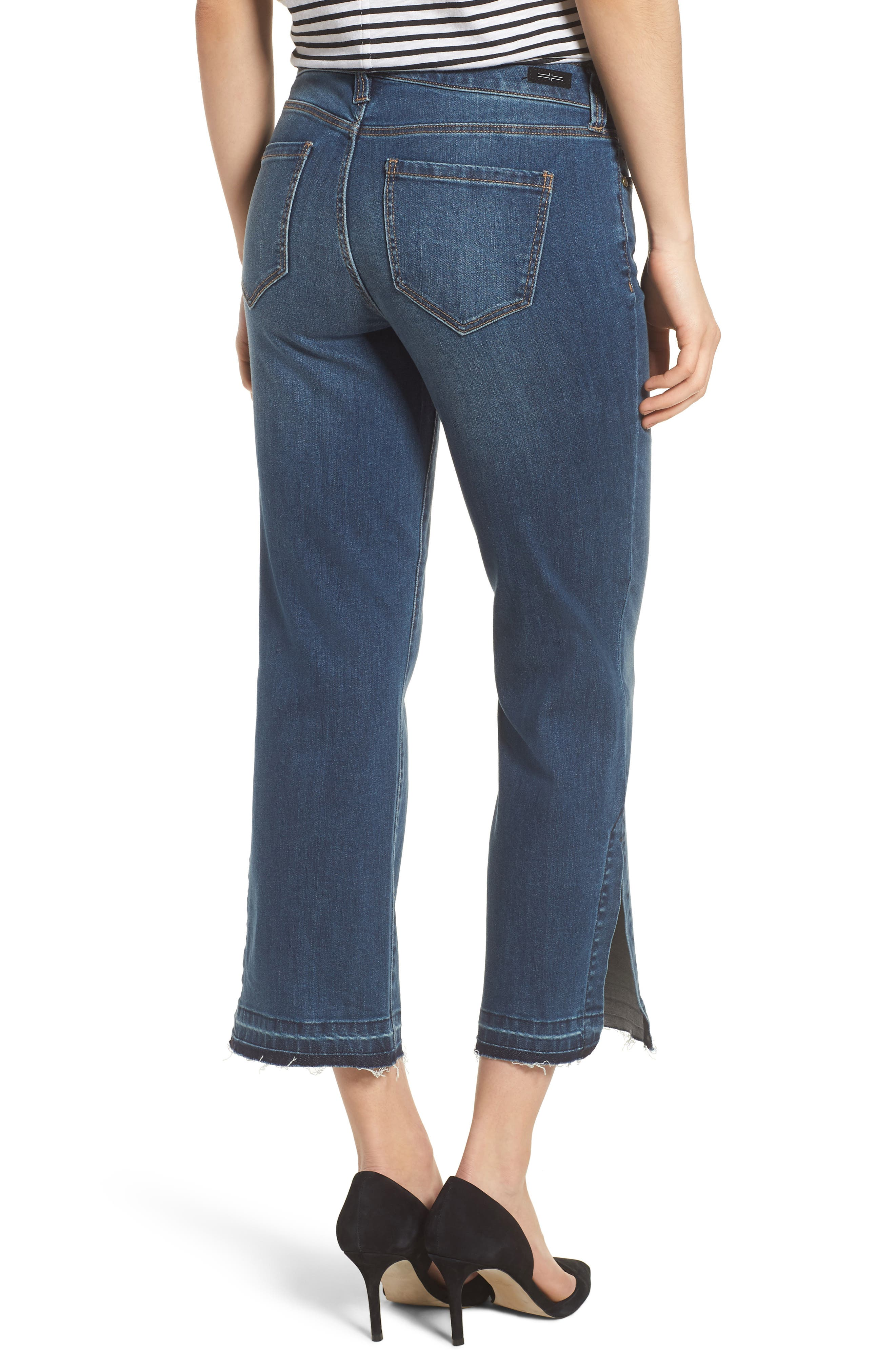 Tabitha Release Hem Crop Jeans,                             Alternate thumbnail 2, color,                             Montauk Mid Blue