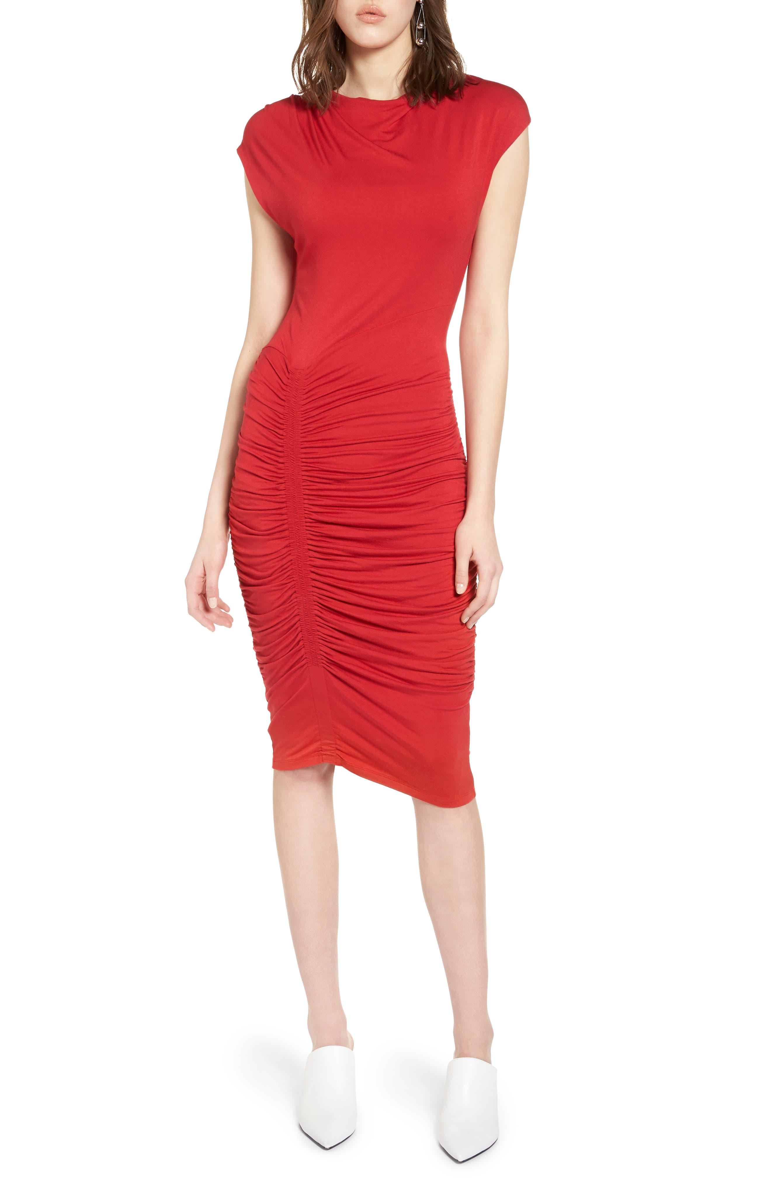 Halogen® Ruched Detail Sheath Dress