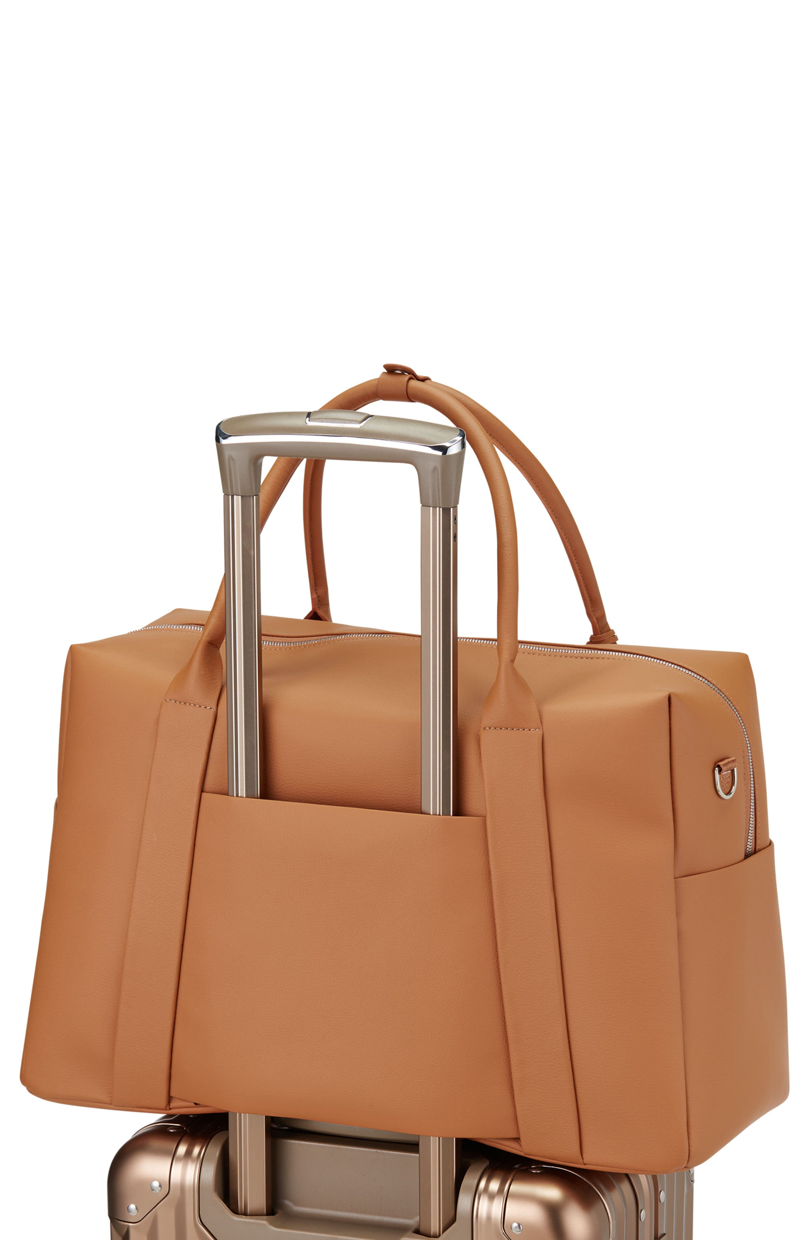 Signature 2.0 Faux Leather Duffel Bag,                             Alternate thumbnail 2, color,                             Pebbled Tan