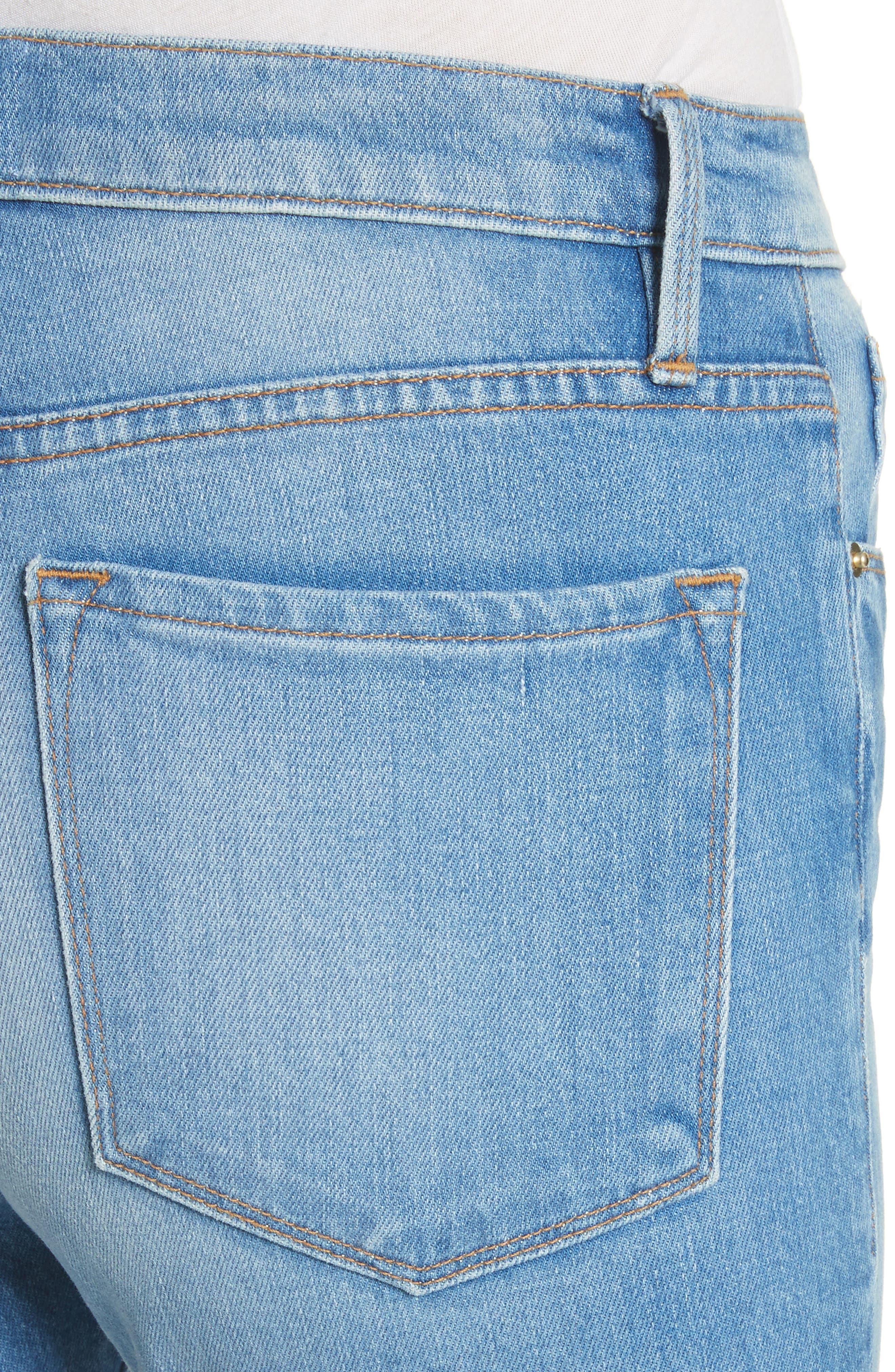 Ali High Waist Ankle Skinny Jeans,                             Alternate thumbnail 4, color,                             Opus