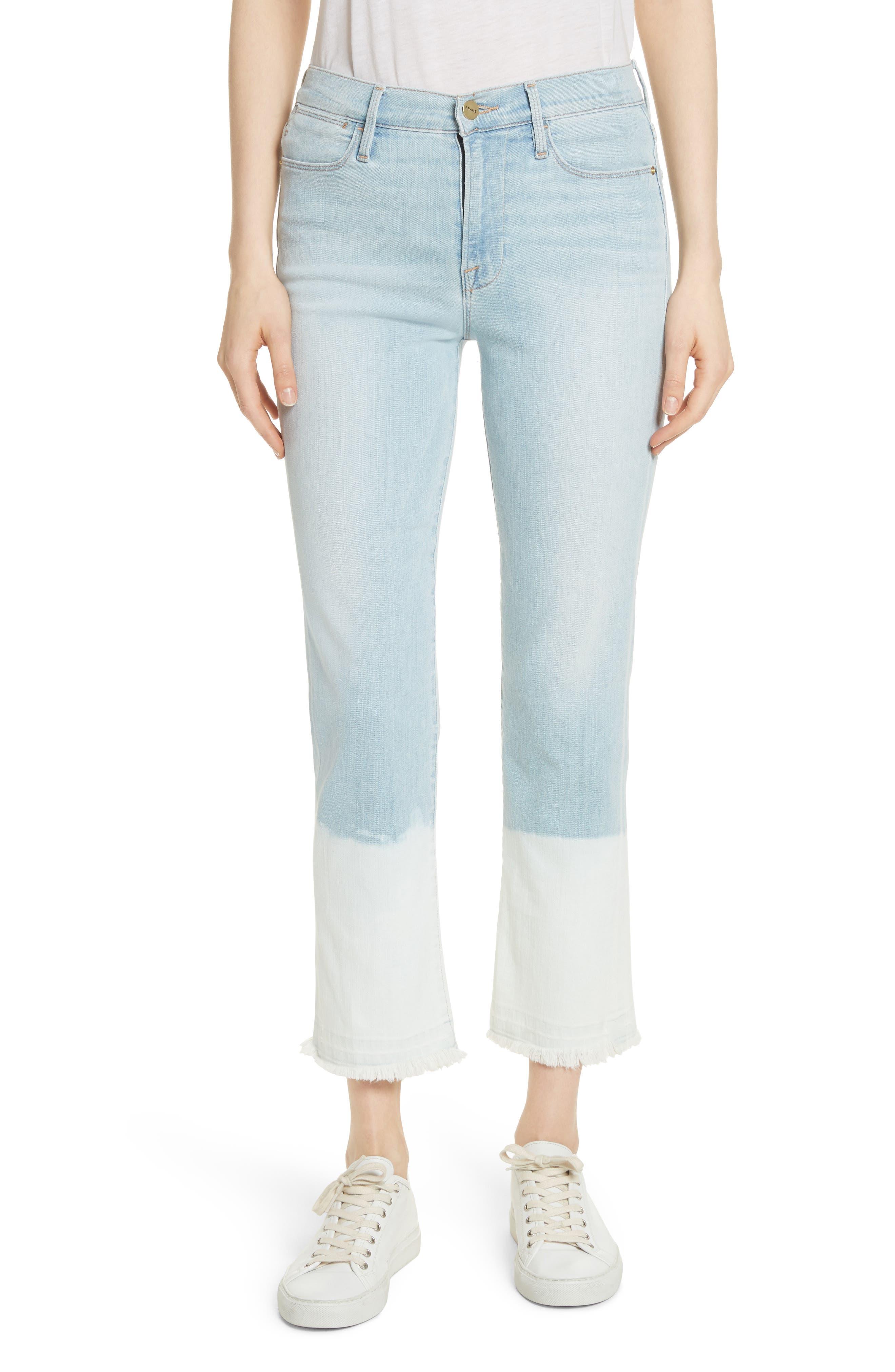 Le High Crop Straight Leg Jeans,                             Main thumbnail 1, color,                             Finchley