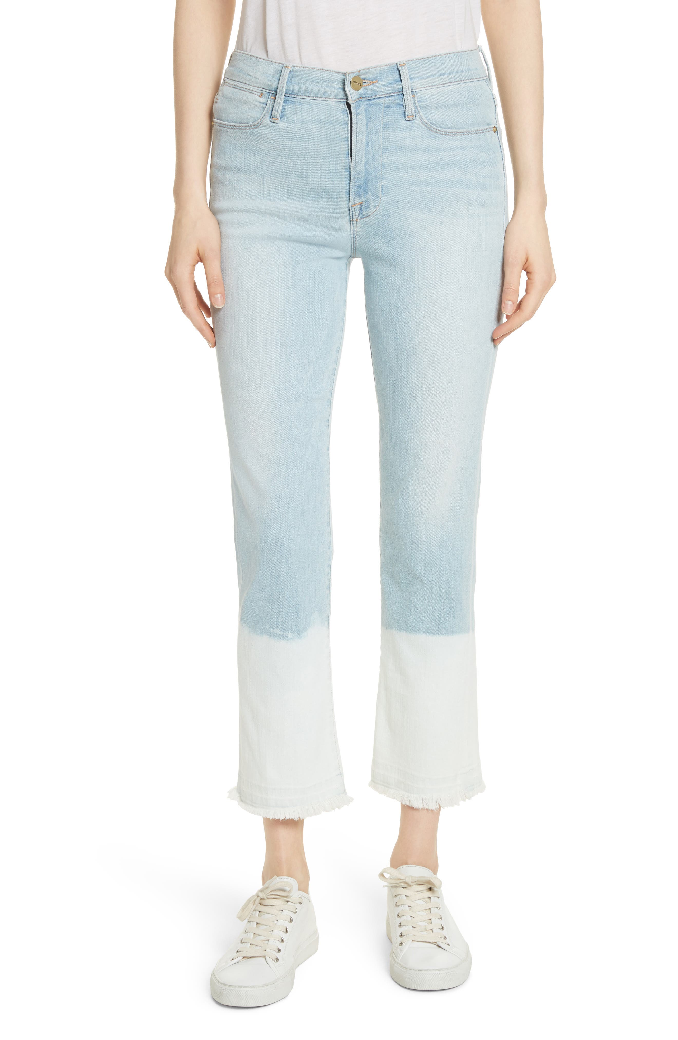 Le High Crop Straight Leg Jeans,                         Main,                         color, Finchley