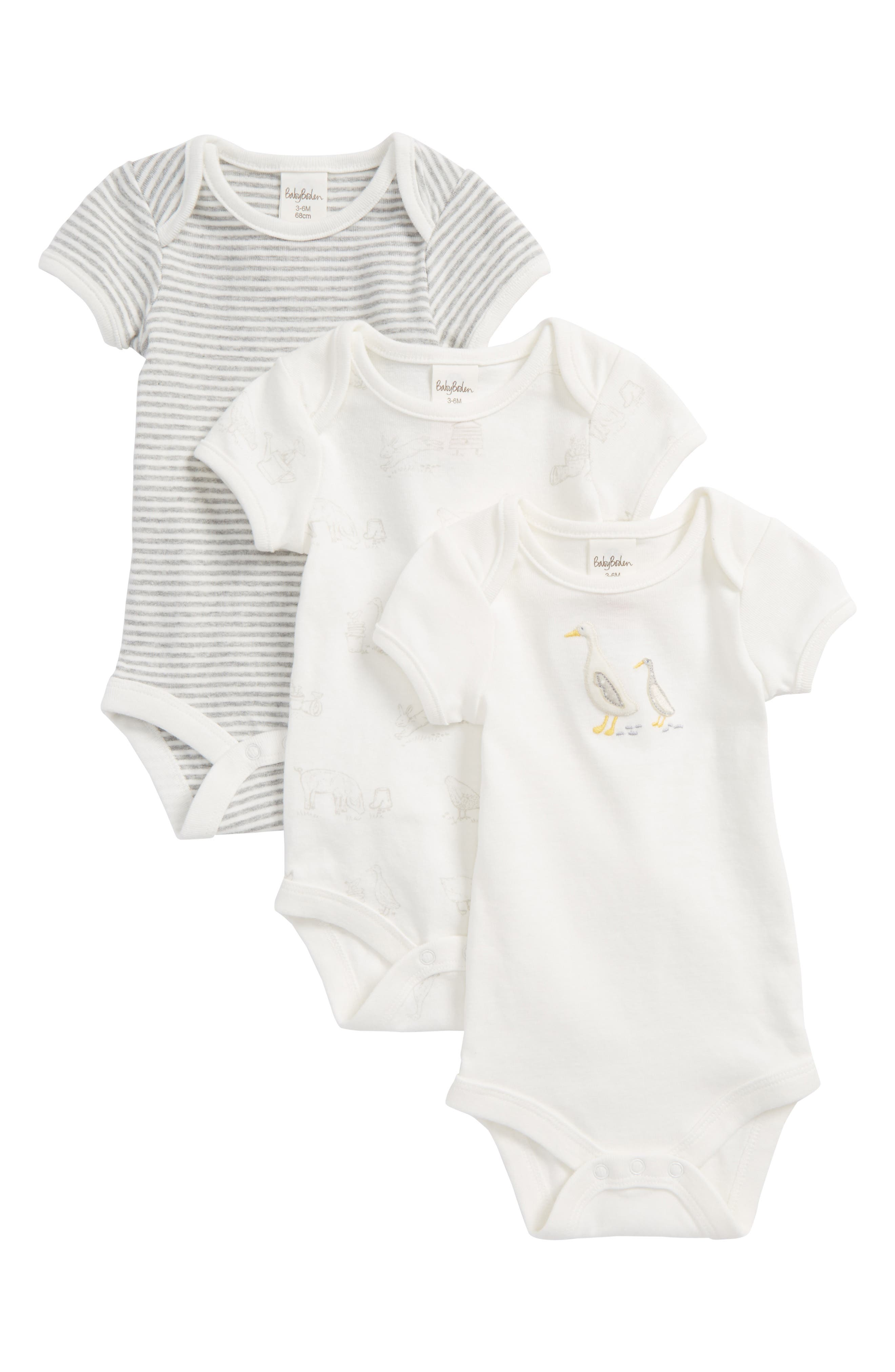 Mini Boden 3-Pack Bodysuits (Baby & Toddler)
