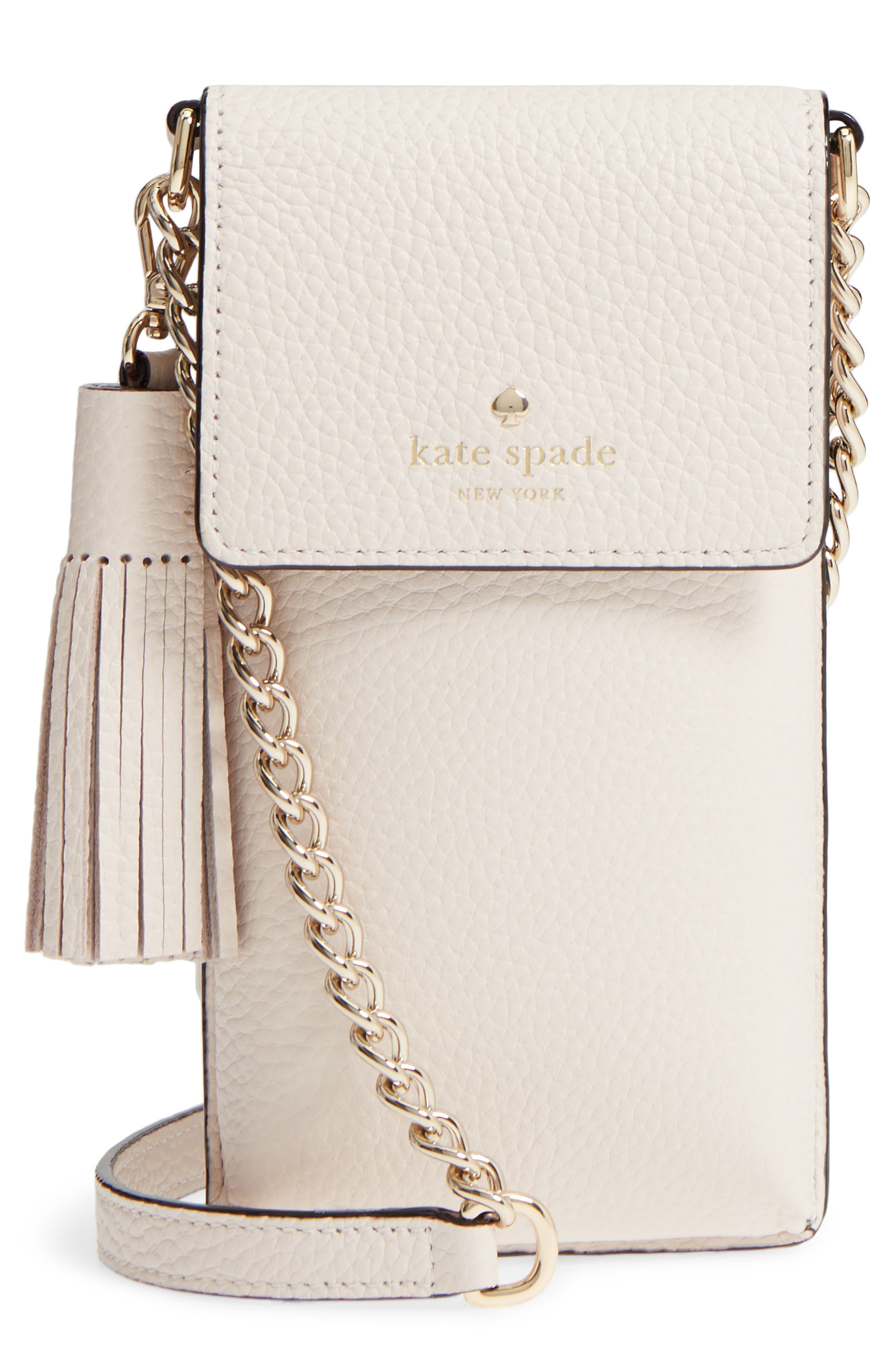 kate spade new york pebbled leather phone crossbody bag
