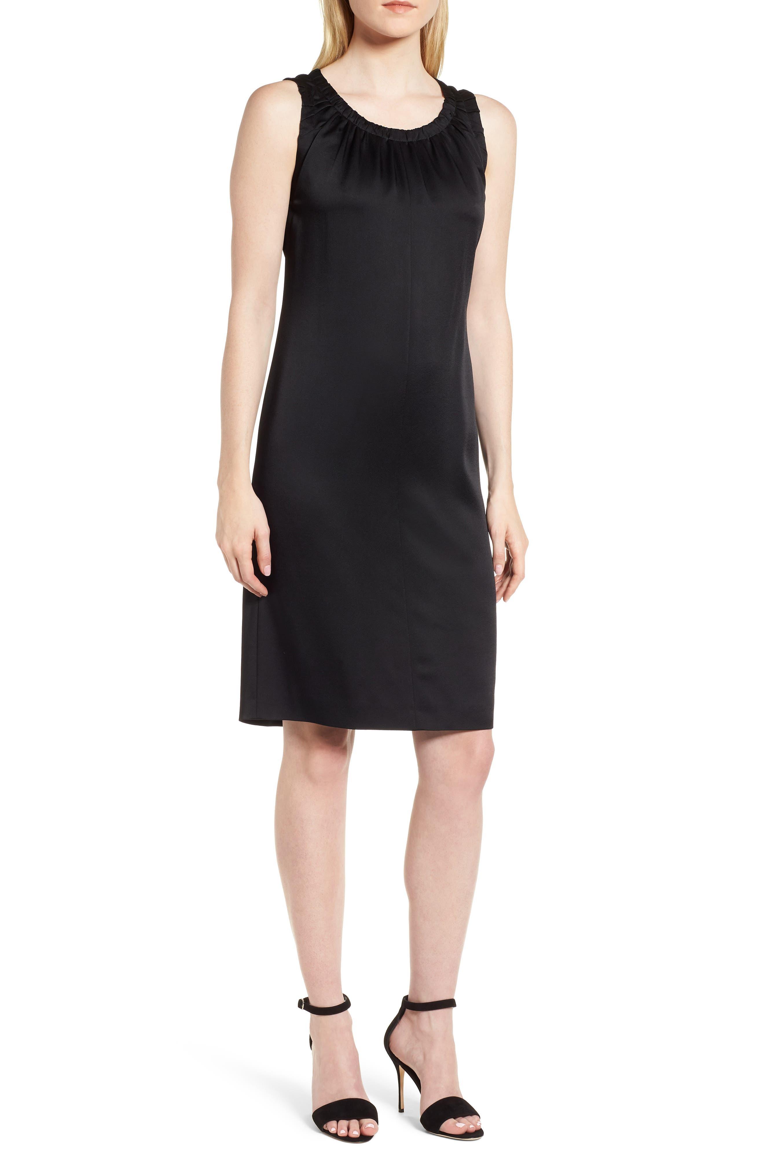 Daviana Sheath Dress,                             Main thumbnail 1, color,                             Black