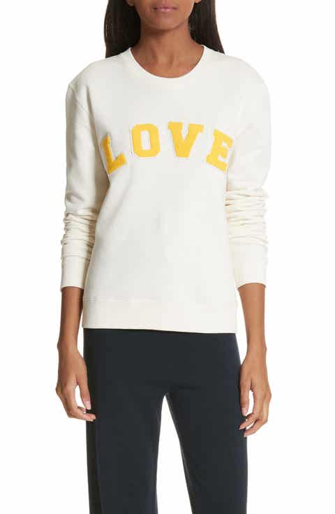 Tory Sport Love Cotton Terry Sweatshirt