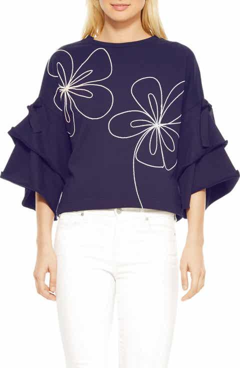 Parker Oamara Flare Sleeve Sweatshirt
