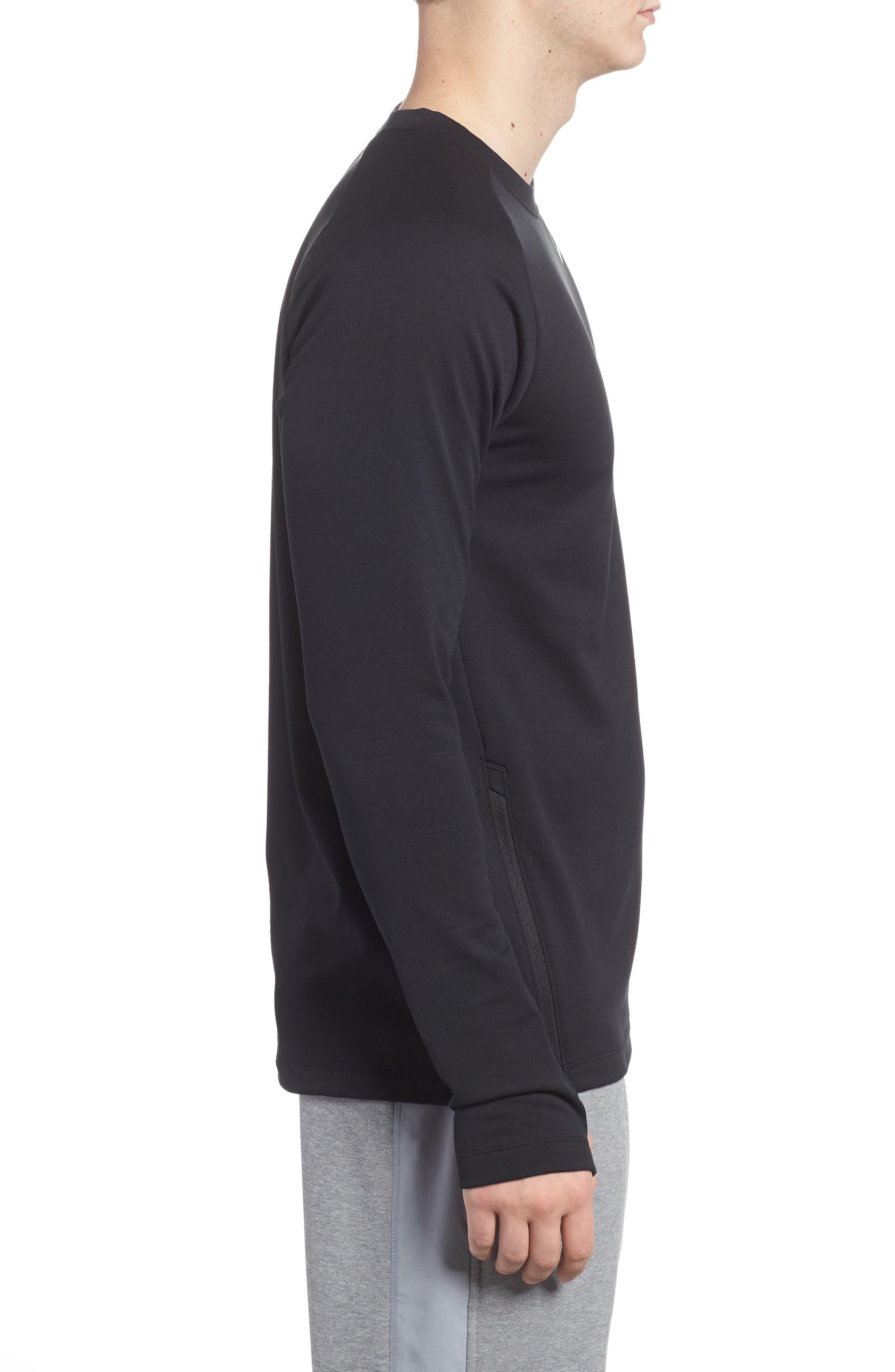 Running Element Long Sleeve T-Shirt,                             Alternate thumbnail 3, color,                             Black