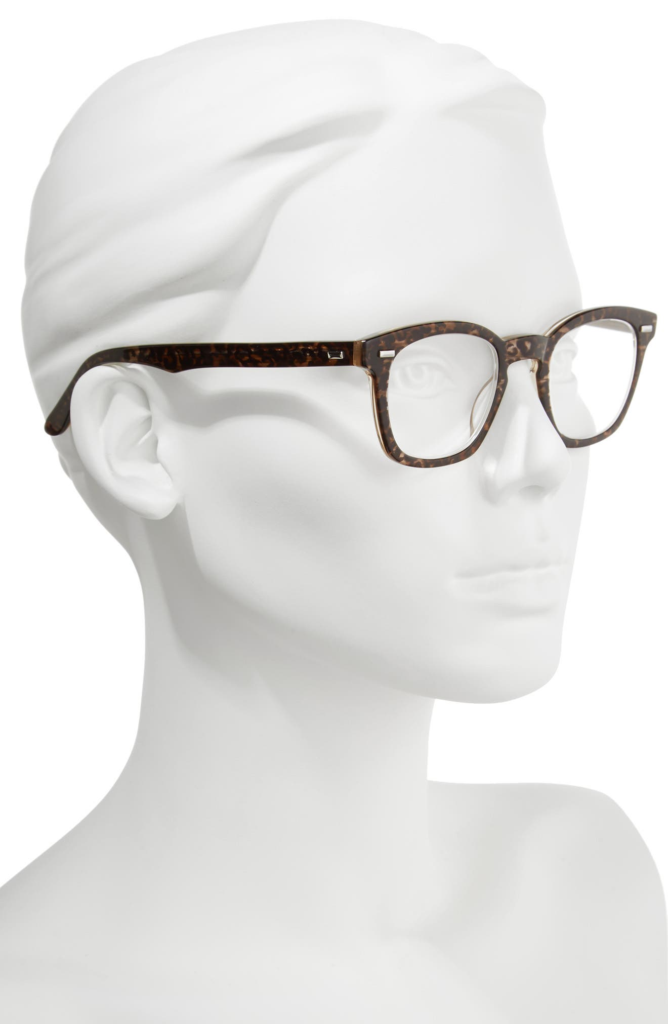 'Annie' 46mm Reading Glasses,                             Alternate thumbnail 2, color,                             Brown