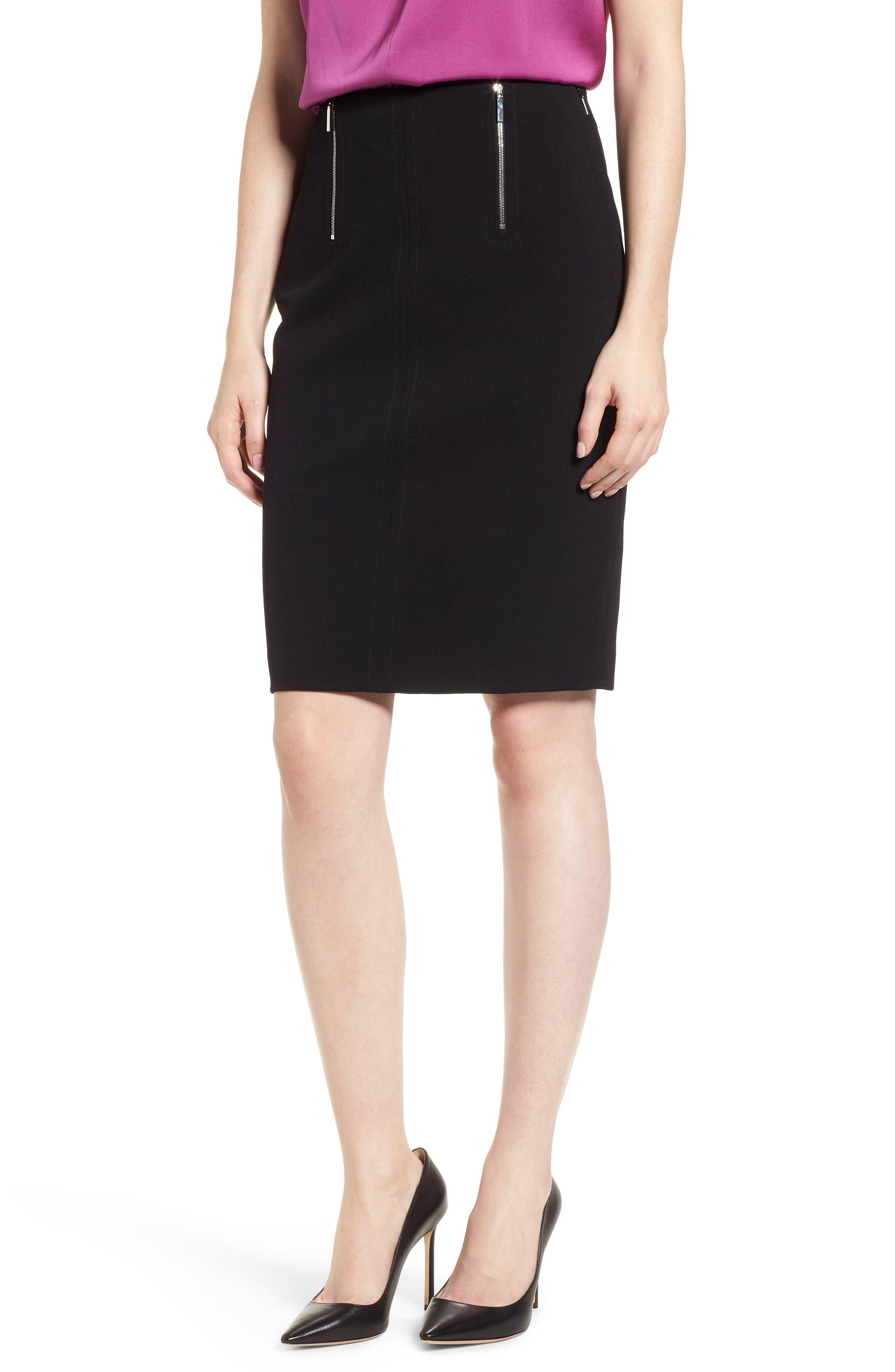 Vinueza Twill Jersey Suit Skirt,                         Main,                         color, Black
