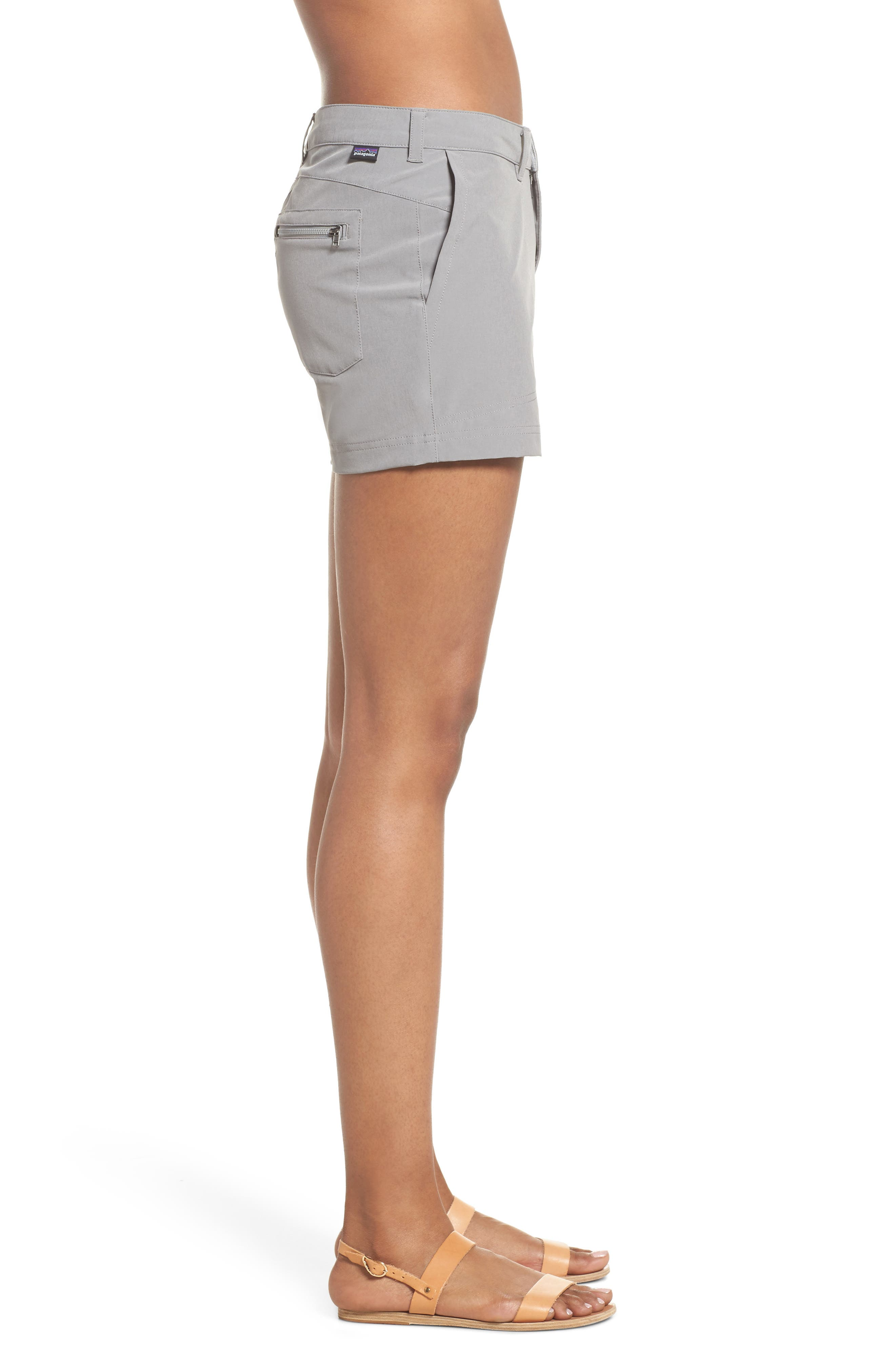 Happy Hike Shorts,                             Alternate thumbnail 3, color,                             Feather Grey