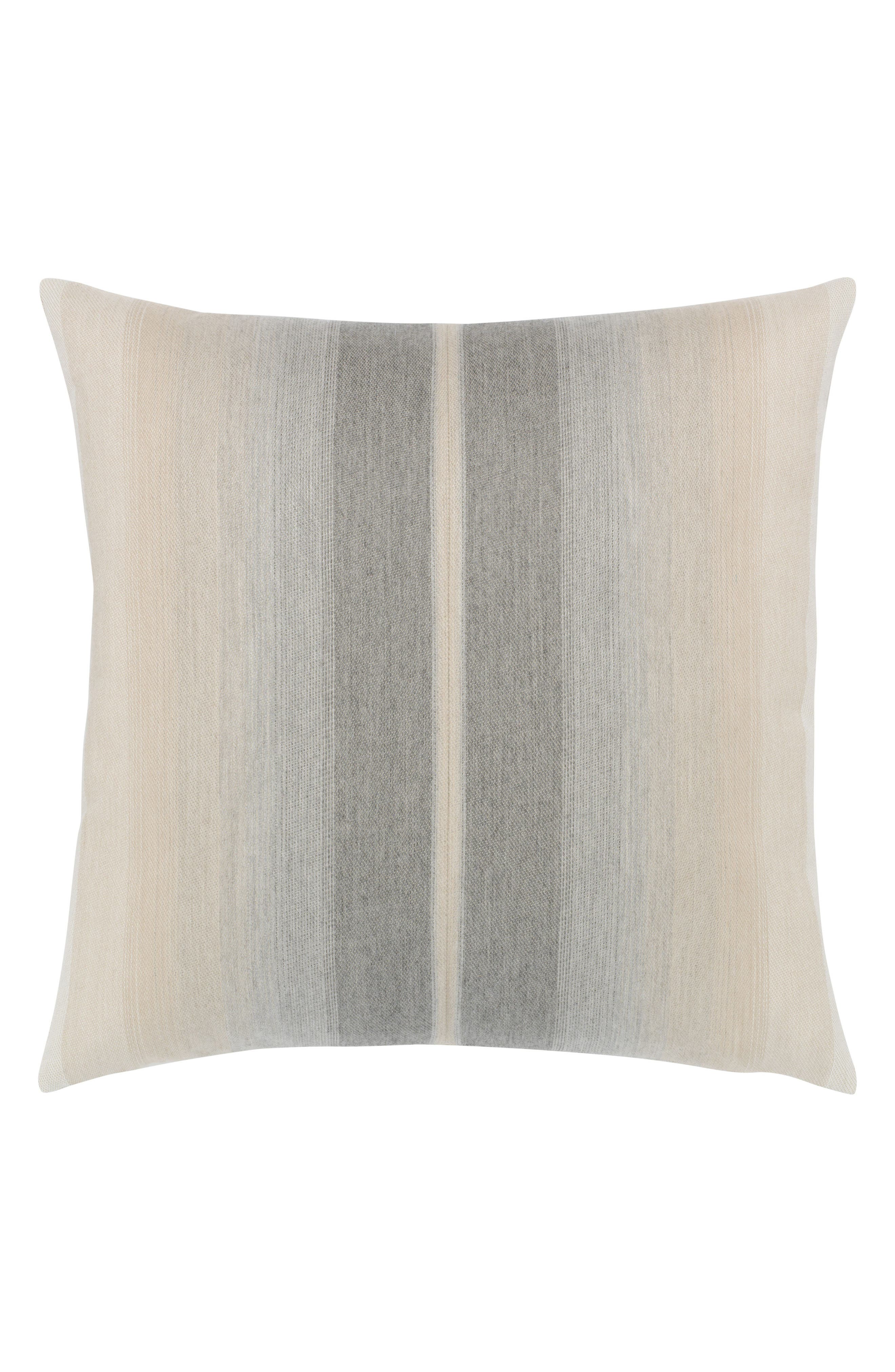 Ombré Grigio Indoor/Outdoor Accent Pillow,                             Main thumbnail 1, color,                             Grey