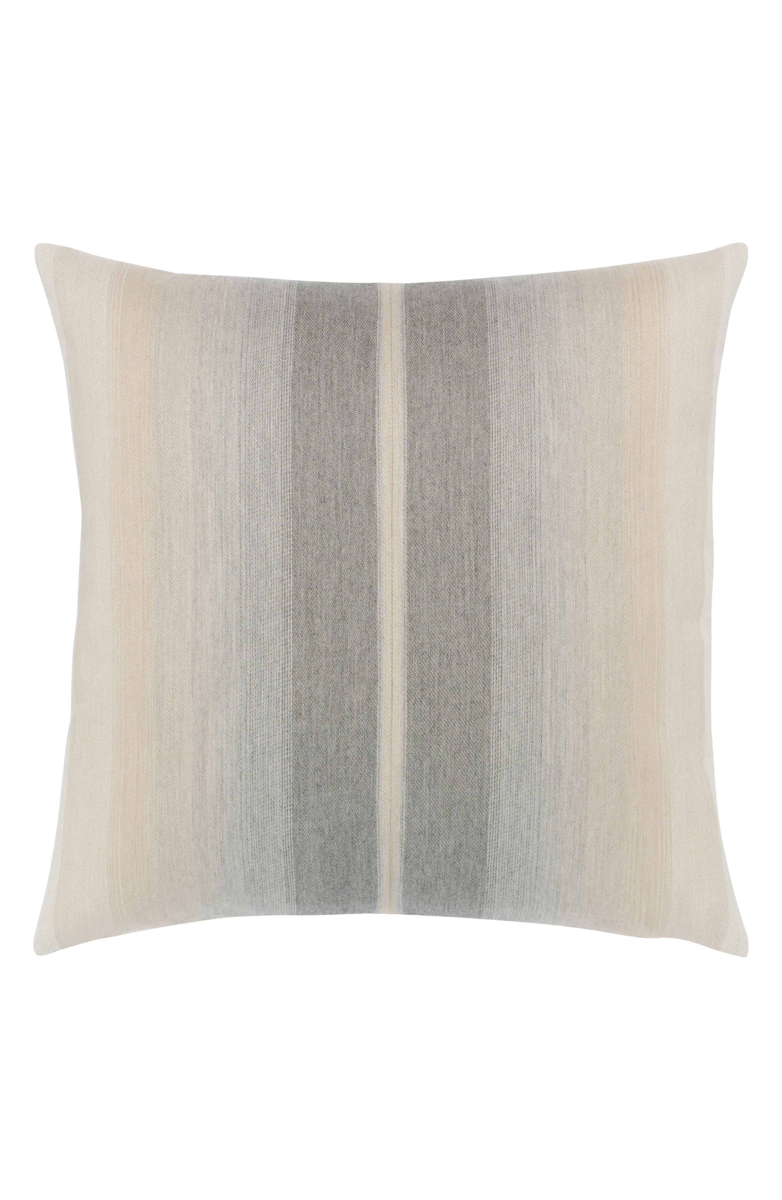 Ombré Grigio Indoor/Outdoor Accent Pillow,                         Main,                         color, Grey