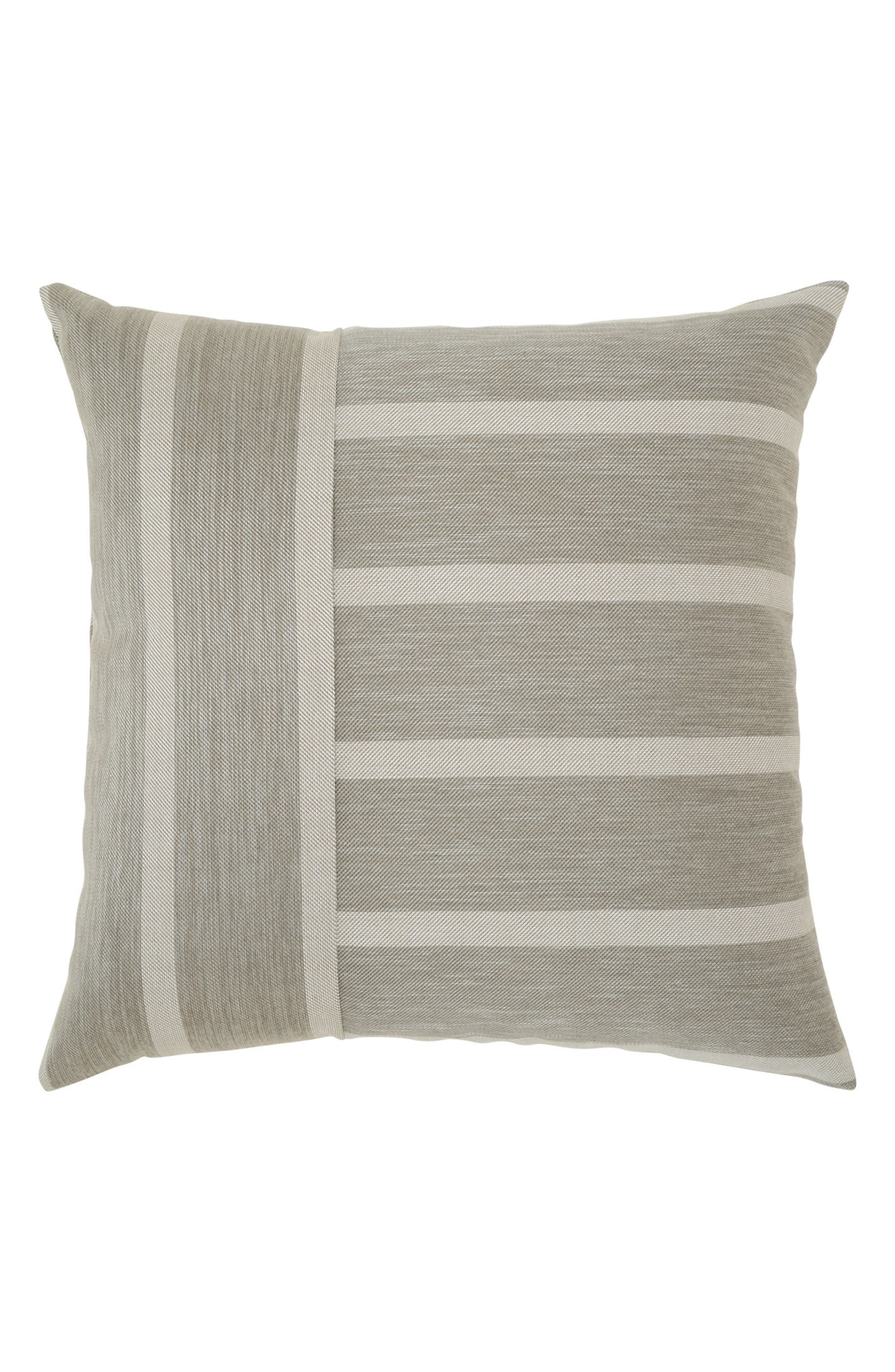Sparkle Stripe Indoor/Outdoor Accent Pillow,                             Main thumbnail 1, color,                             Grey
