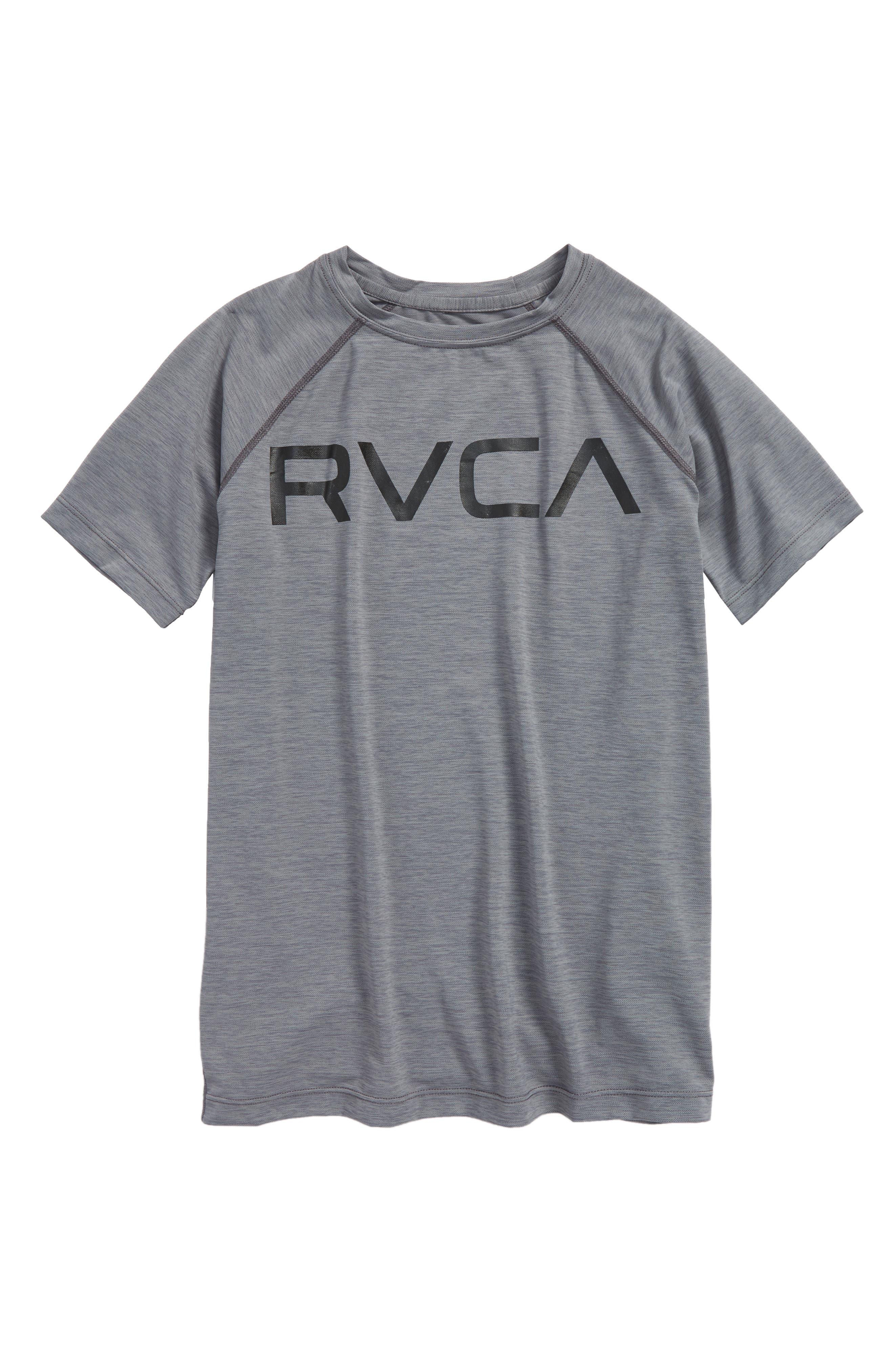 Micro Mesh Graphic T-Shirt,                             Main thumbnail 1, color,                             Grey Noise