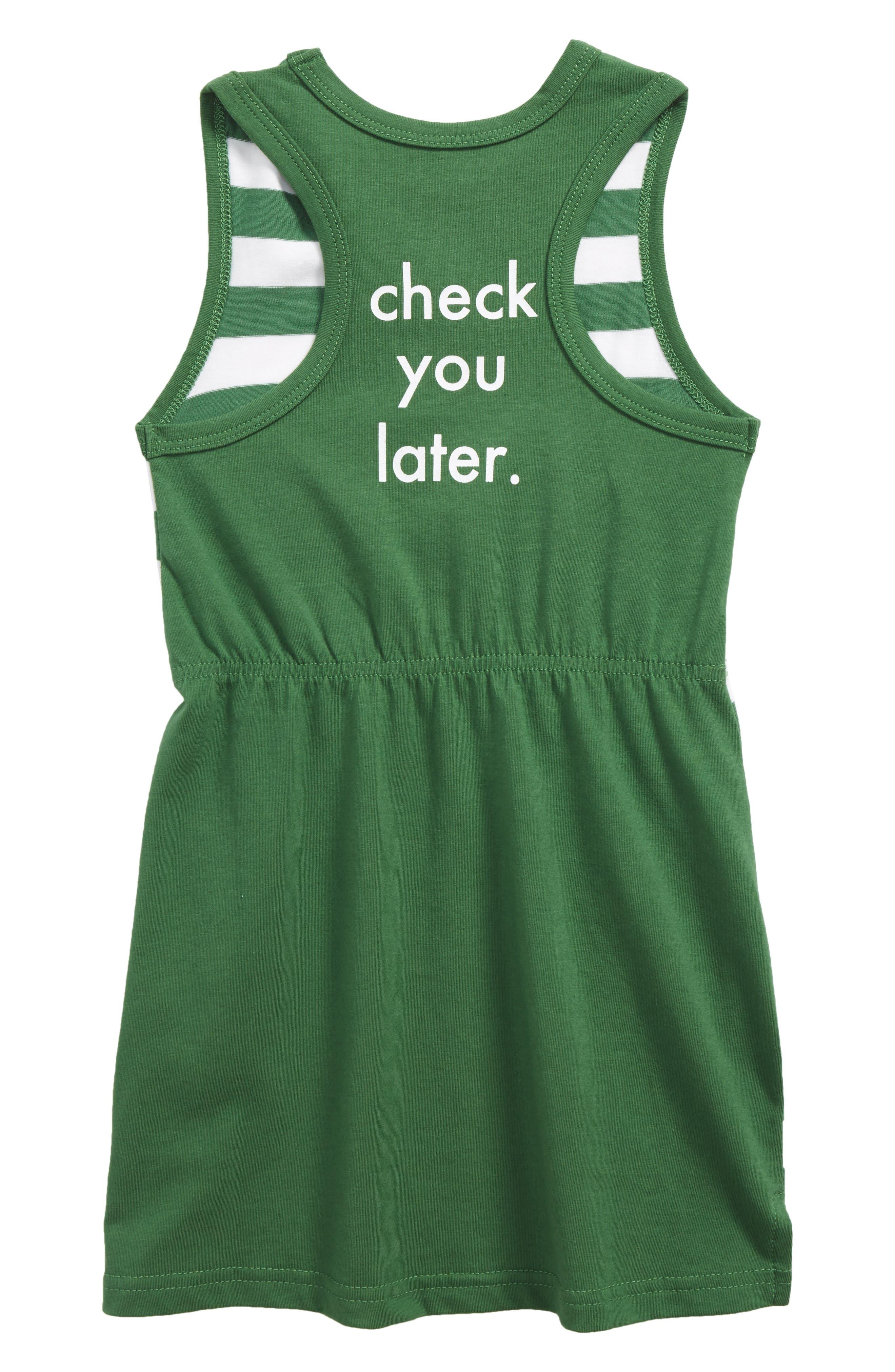 Alternate Image 2  - Tiny Tribe Check You Later Racerback Dress (Toddler Girls & Little Girls)