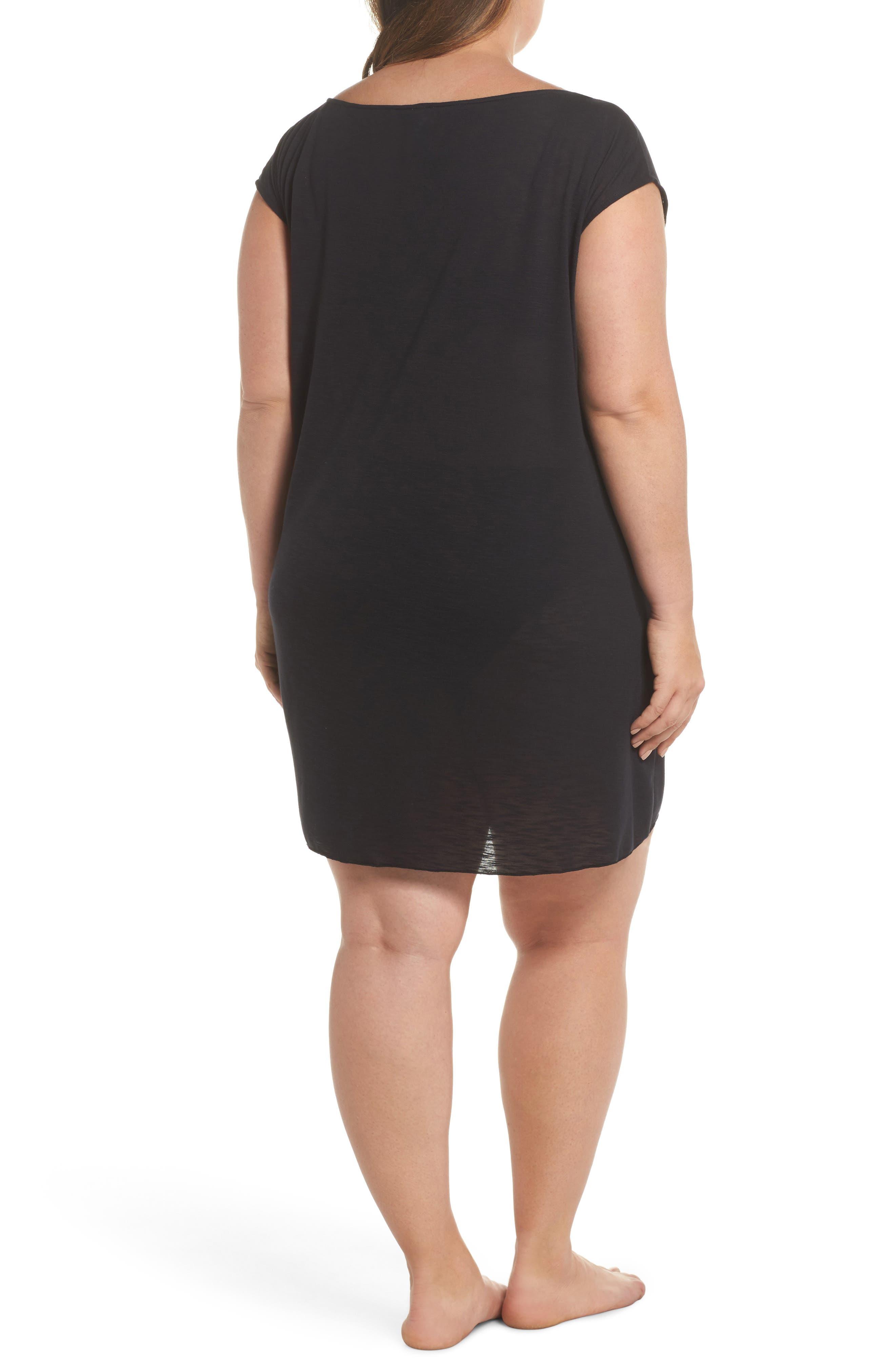 Breezy Basic Cover-Up Dress,                             Alternate thumbnail 2, color,                             Black
