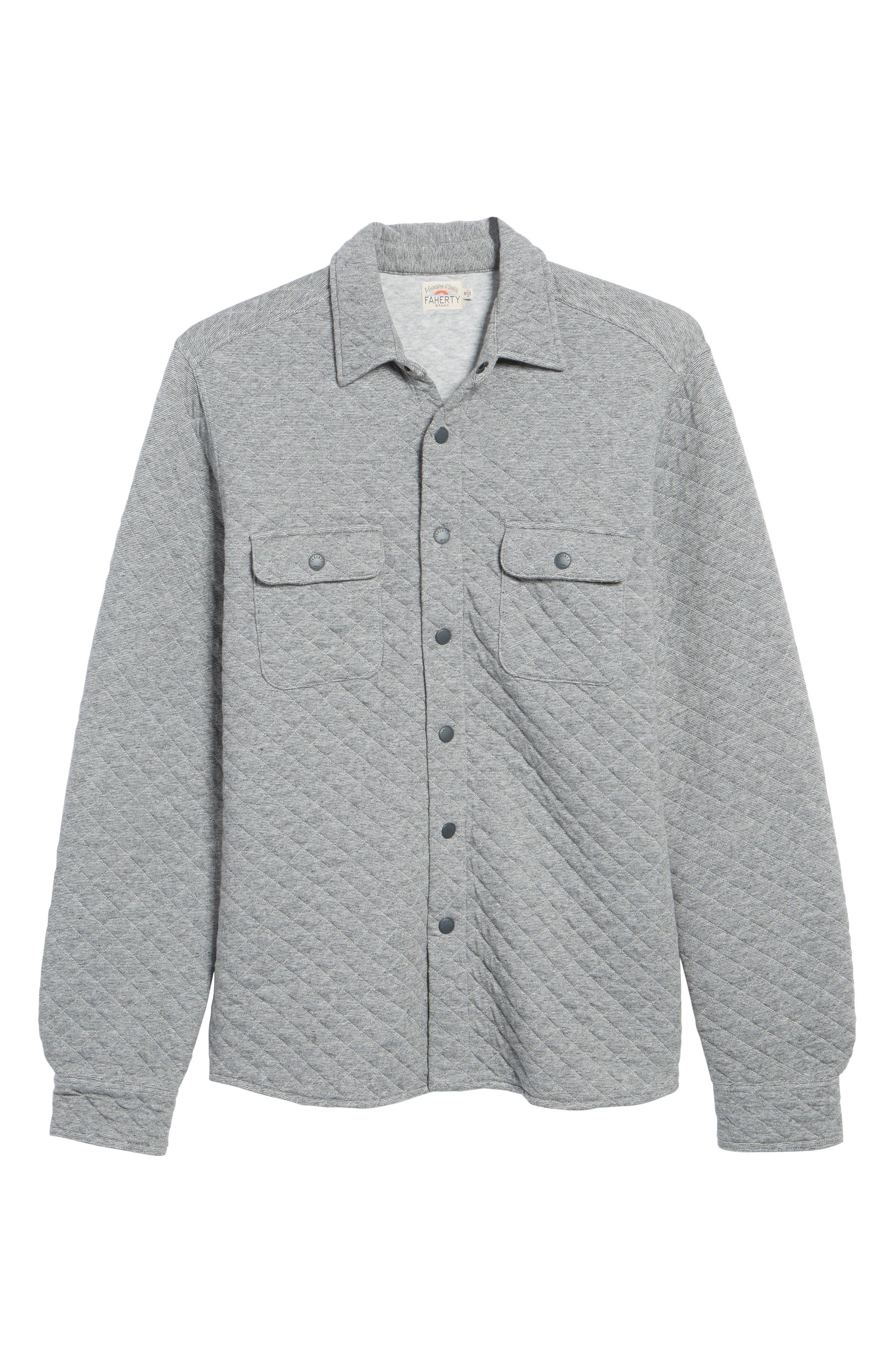 Alternate Image 6  - Faherty Belmar Quilted Snap Shirt Jacket