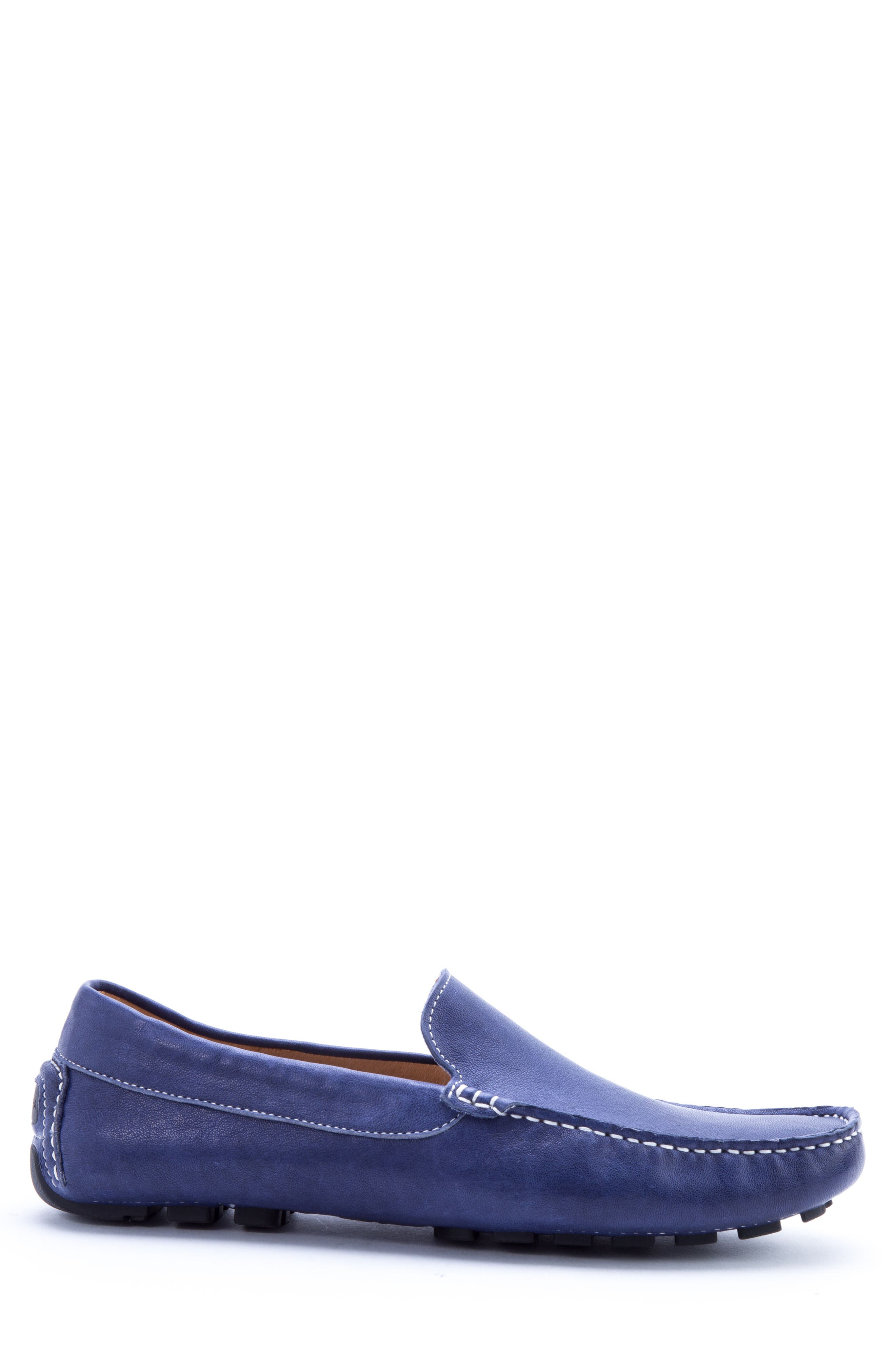 Picasso 3 Moc Toe Driving Loafer,                             Alternate thumbnail 3, color,                             Blue Leather