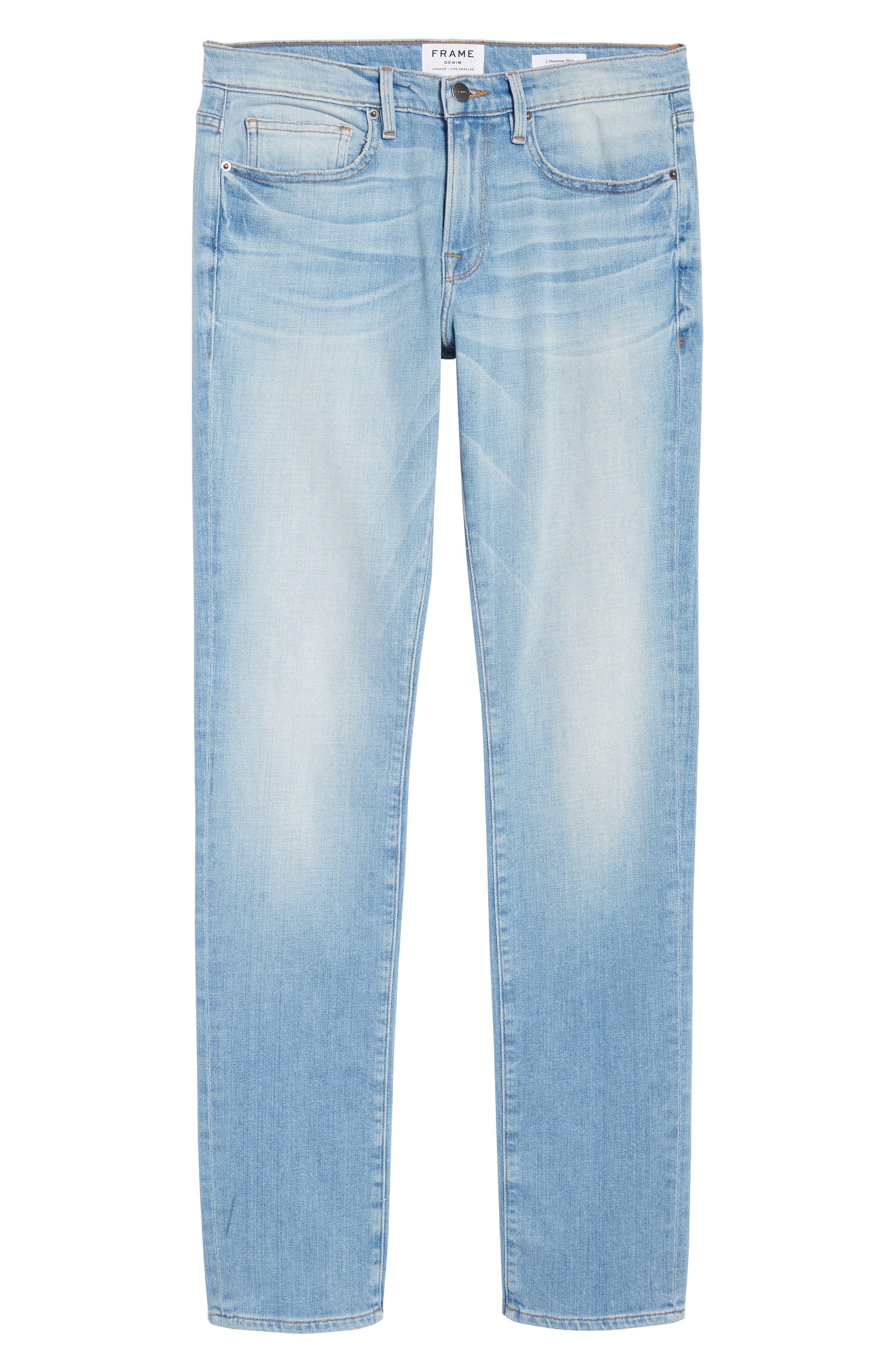 L'Homme Straight Leg Jeans,                             Alternate thumbnail 6, color,                             Finn