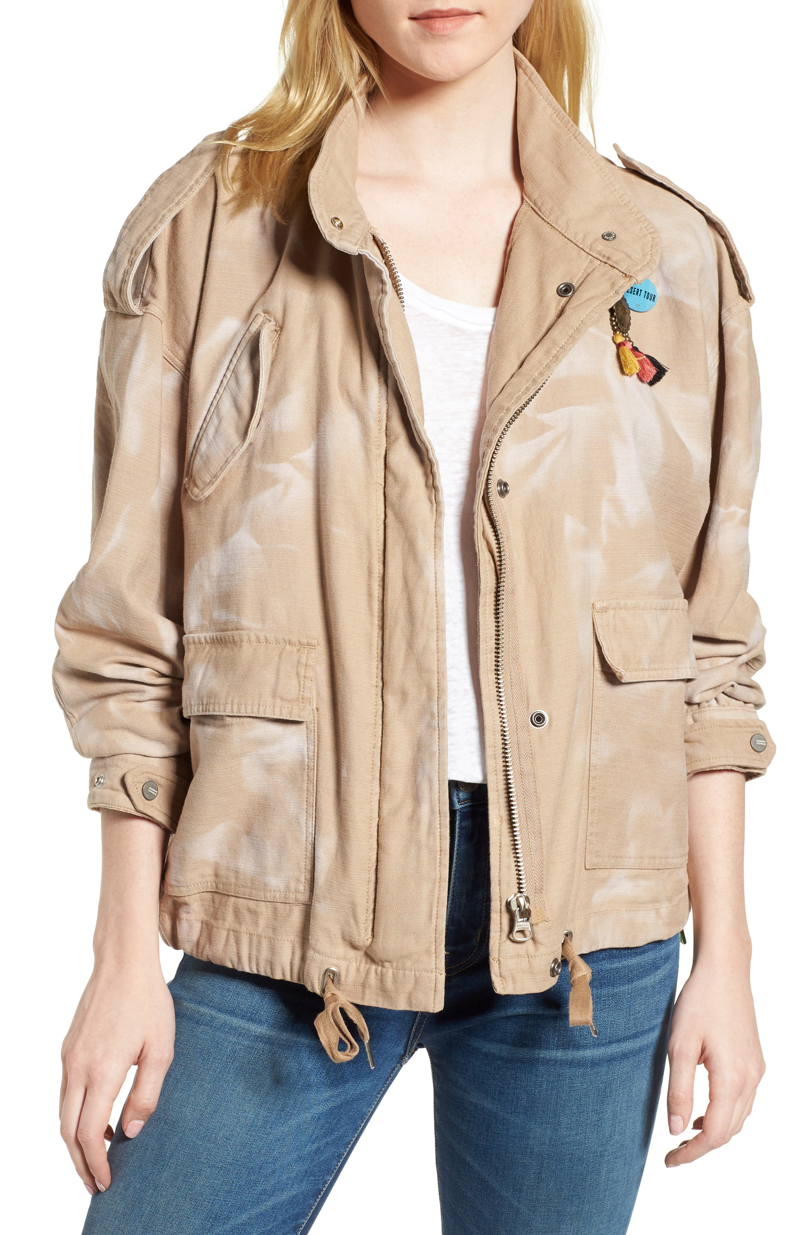 Oversize Military Jacket,                             Main thumbnail 1, color,                             Color 37 Sand