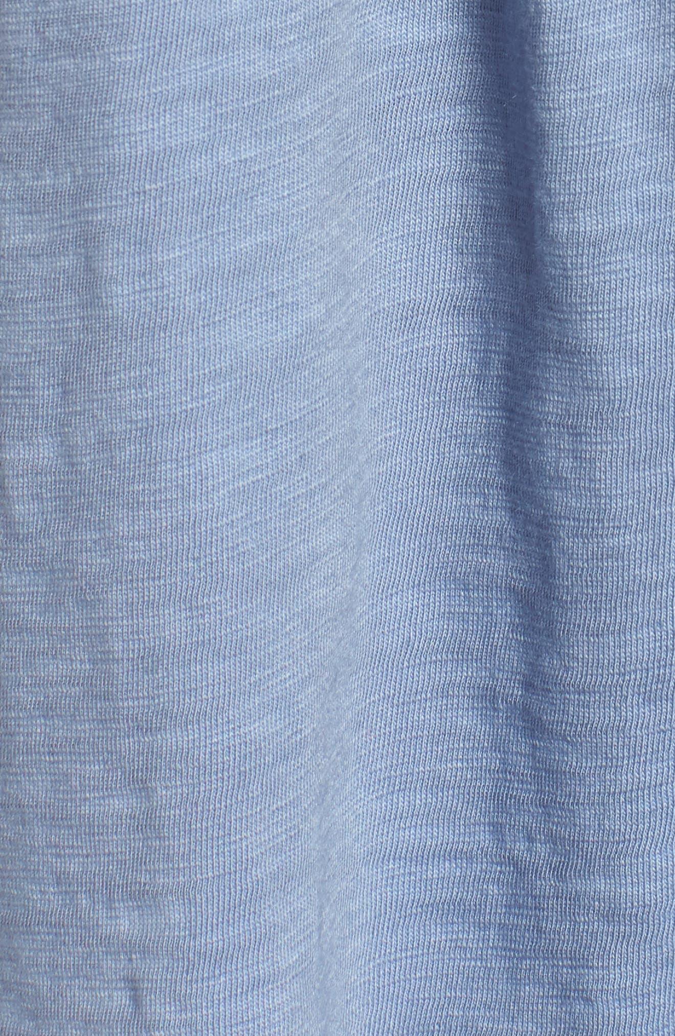 Tassel Trim Embroidered Tank,                             Alternate thumbnail 6, color,                             Blue Stonewash